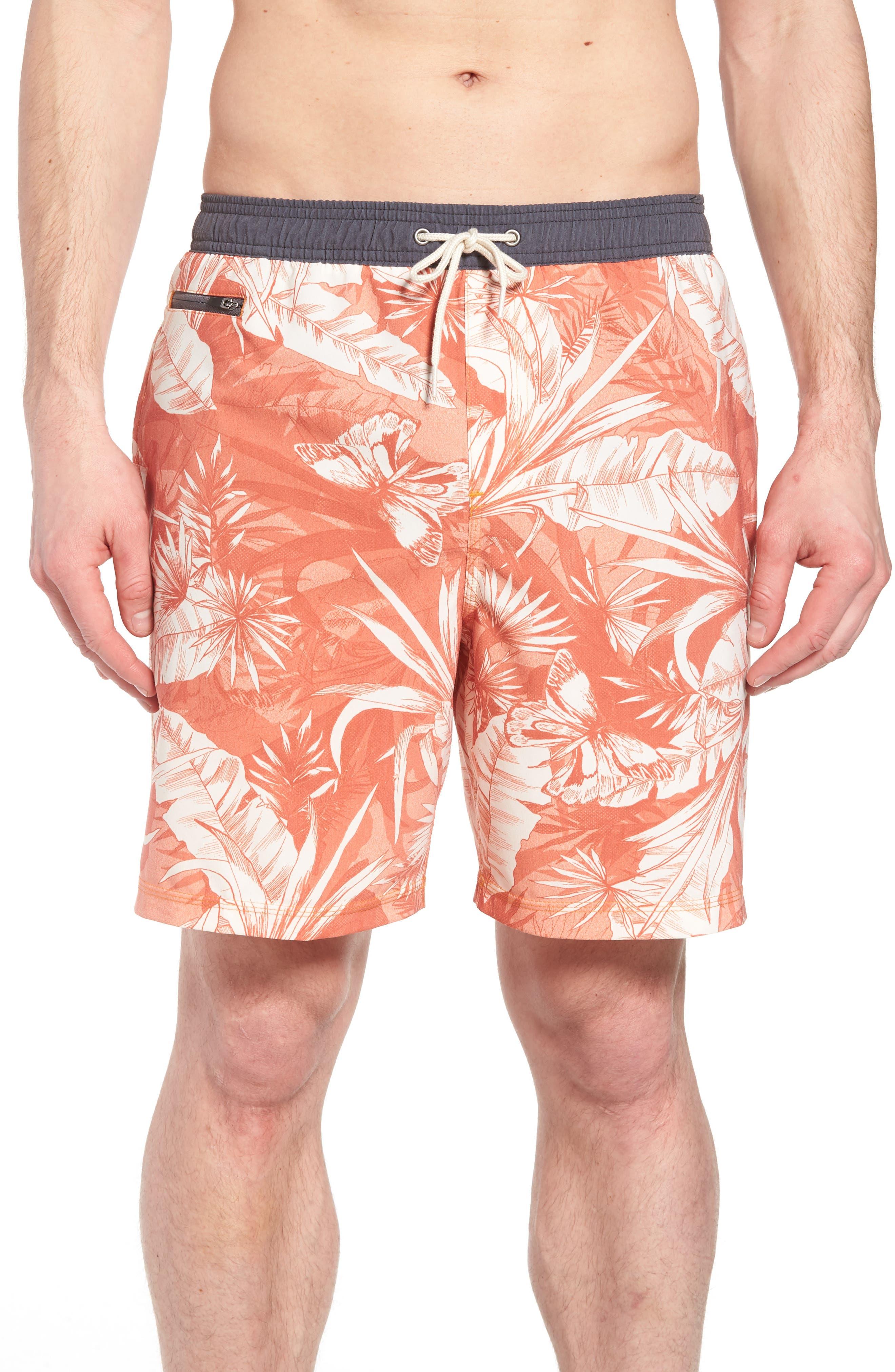 Sunset Board Shorts,                         Main,                         color, 214
