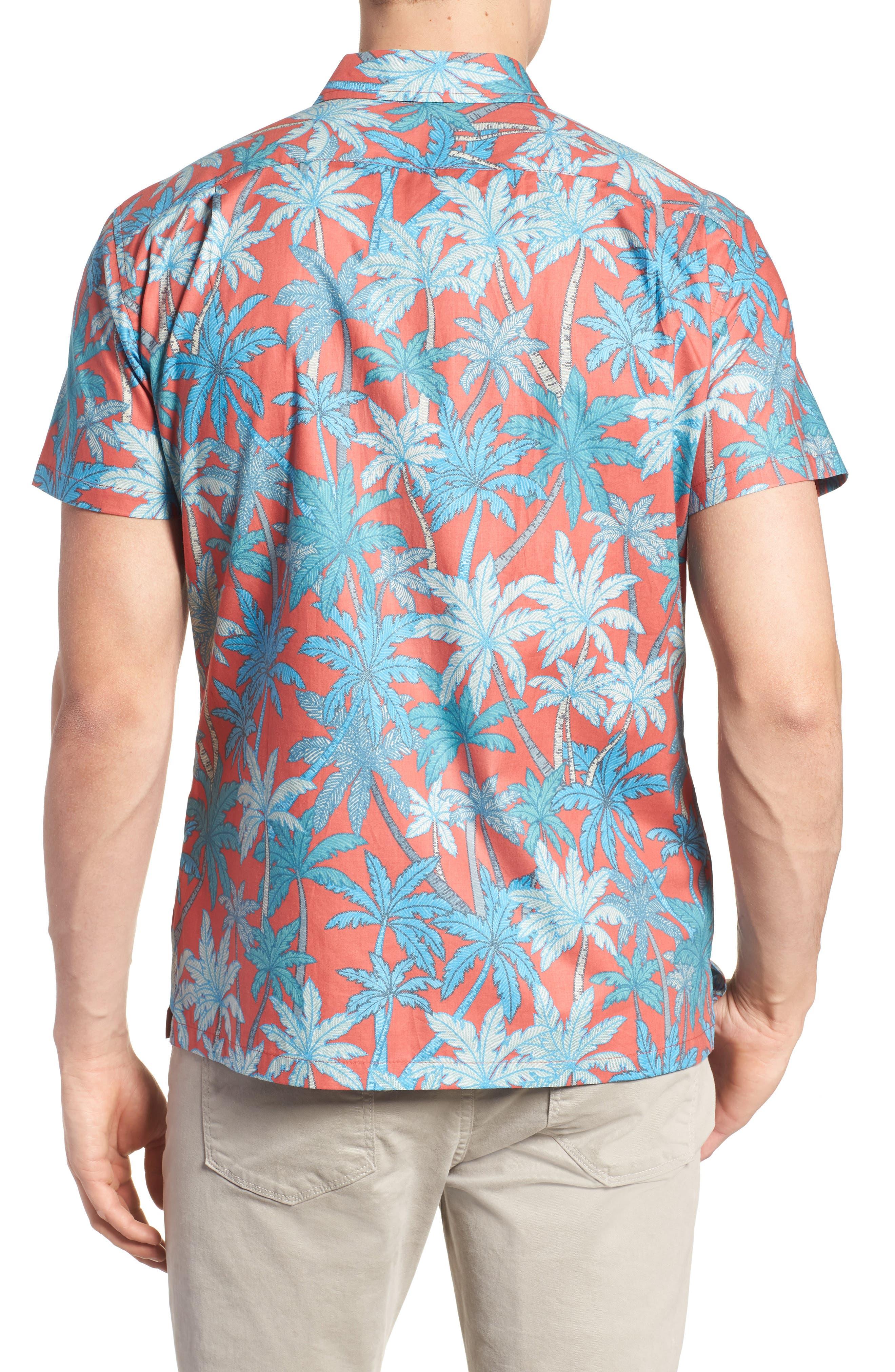 Pick a Palm Trim Fit Camp Shirt,                             Alternate thumbnail 2, color,                             693