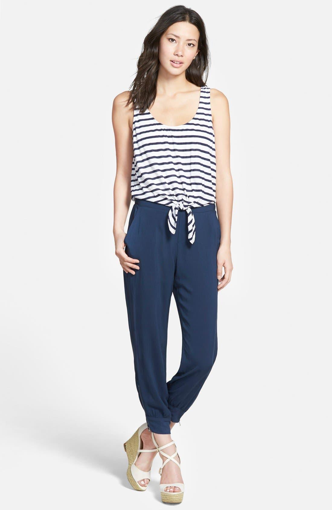 Nautical Stripe Jumpsuit, Main, color, 411