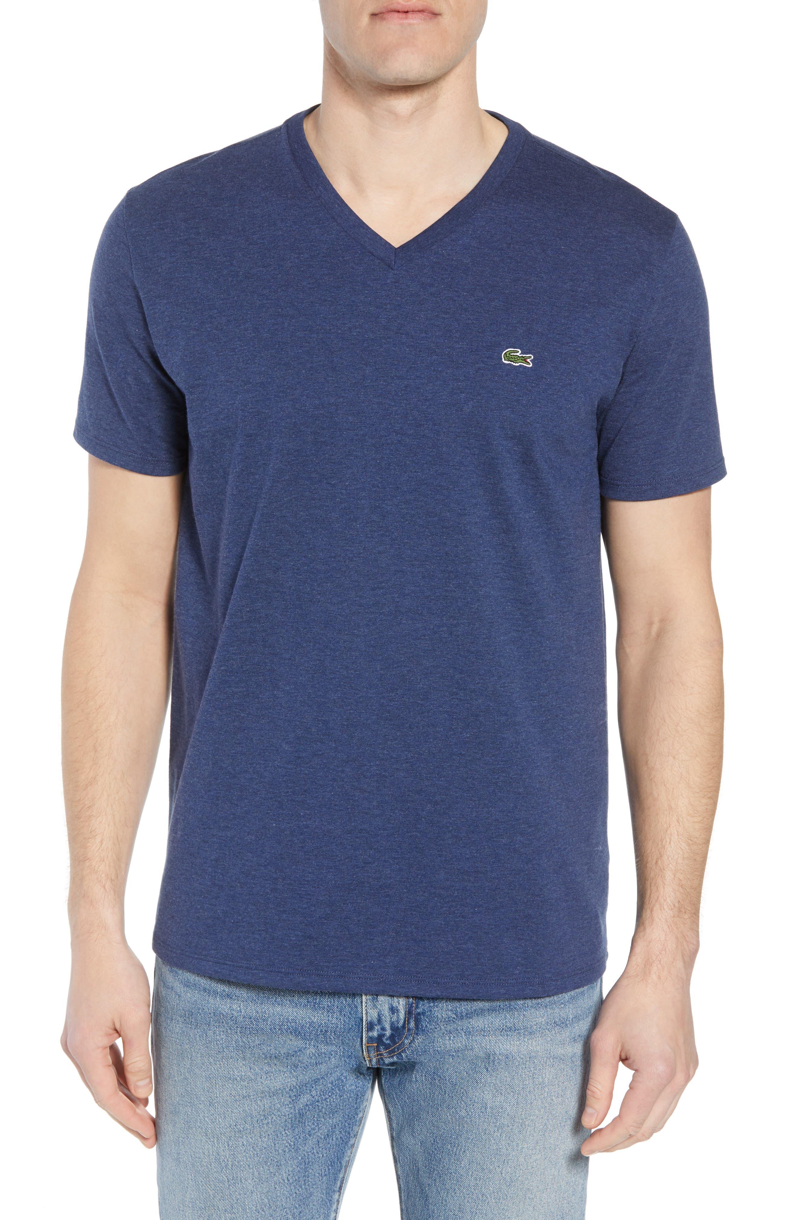 V-Neck Cotton T-Shirt,                             Main thumbnail 6, color,
