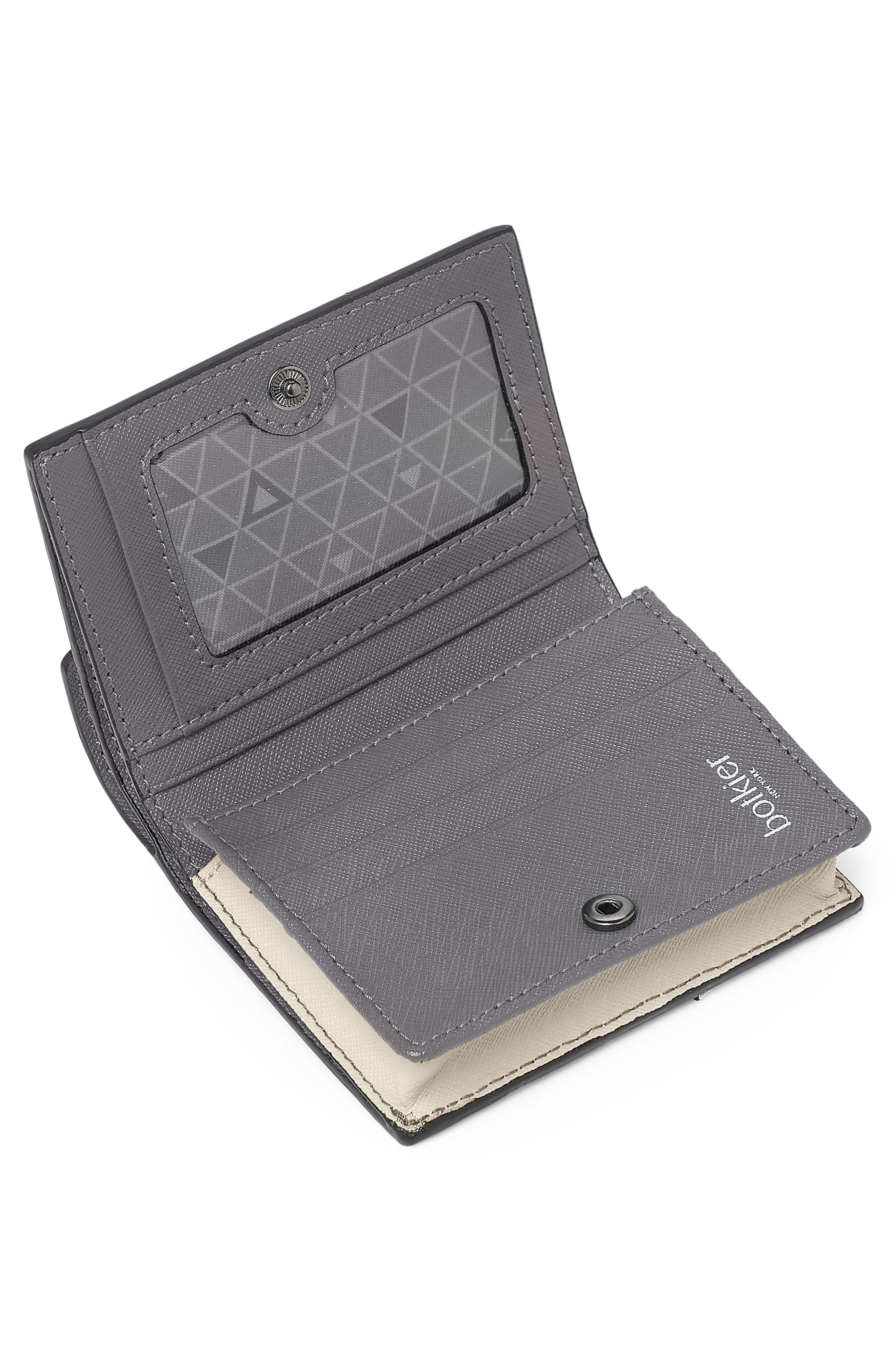 BOTKIER,                             Mini Cobble Hill Colorblock Leather Wallet,                             Alternate thumbnail 2, color,                             PEWTER COMBO