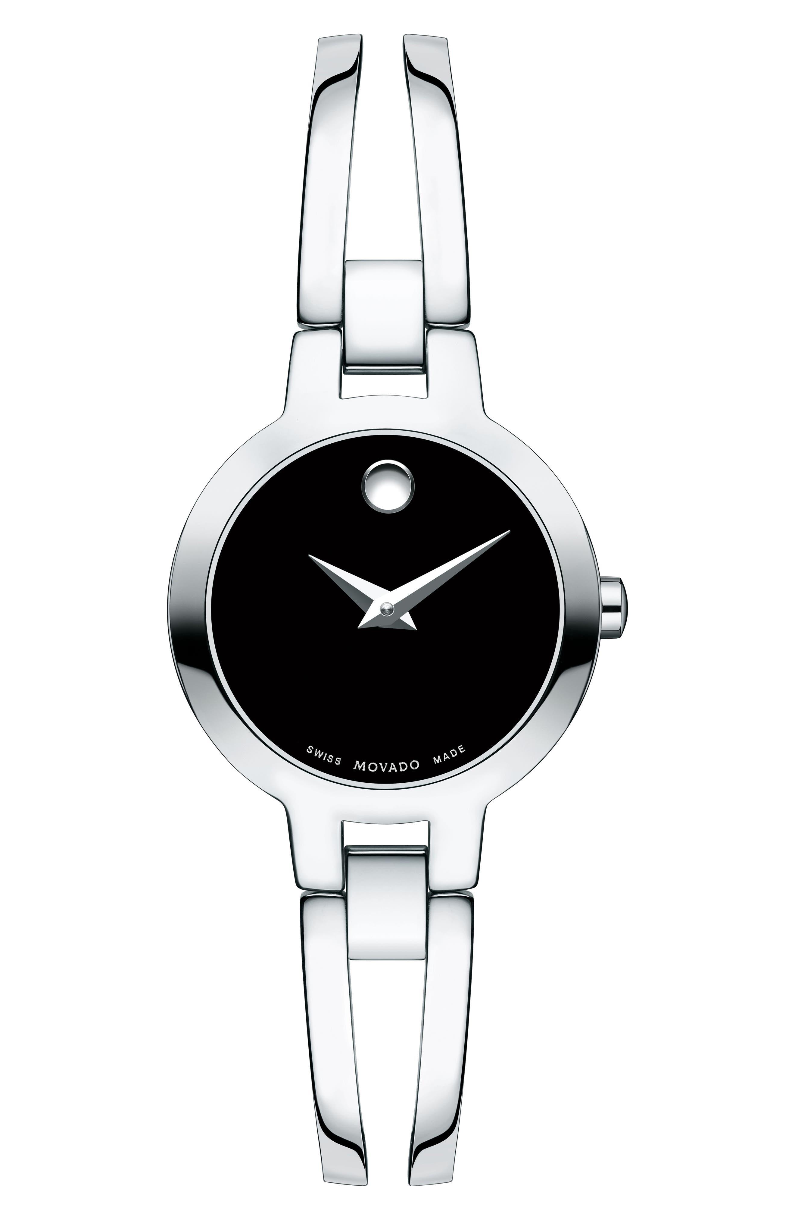 MOVADO,                             Amorosa Bangle Watch, 24mm,                             Main thumbnail 1, color,                             040