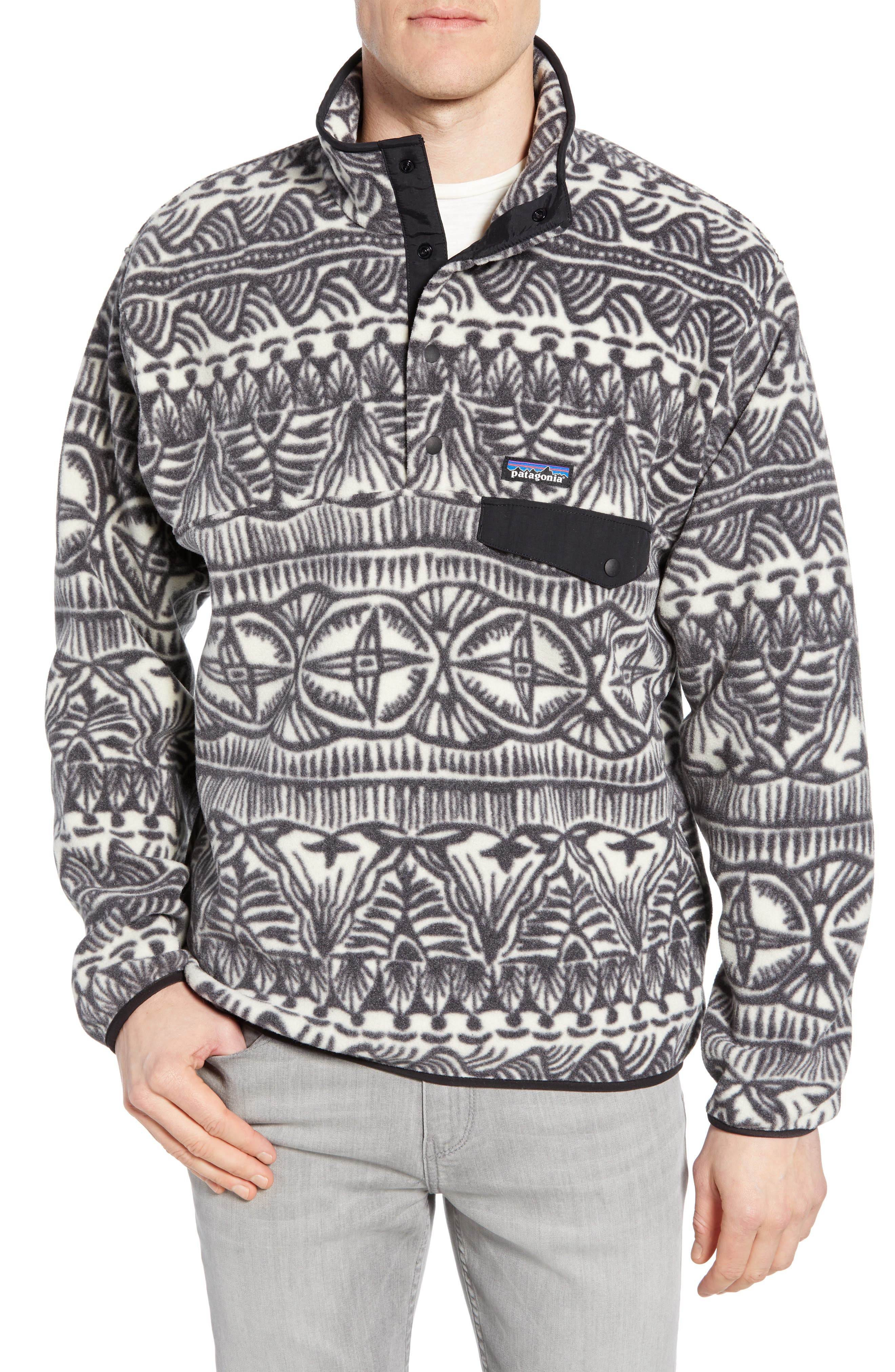 Synchilla<sup>®</sup> Snap-T<sup>®</sup> Fleece Pullover,                             Main thumbnail 1, color,                             TRADEWINDS BIG INK BLACK