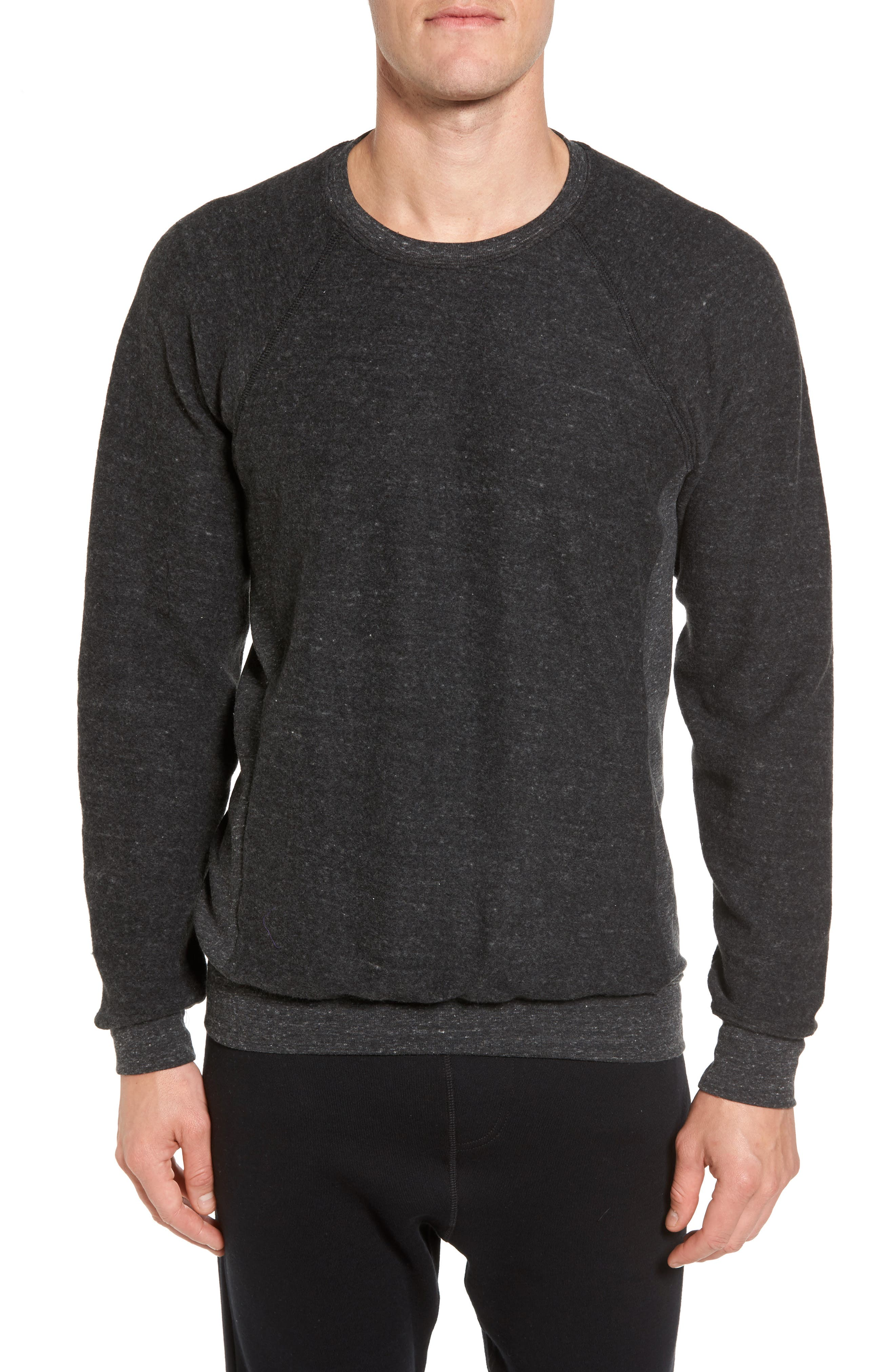 Relaxed Fit Felted Sweatshirt,                         Main,                         color, CHARCOAL BLACK TRIBLEND
