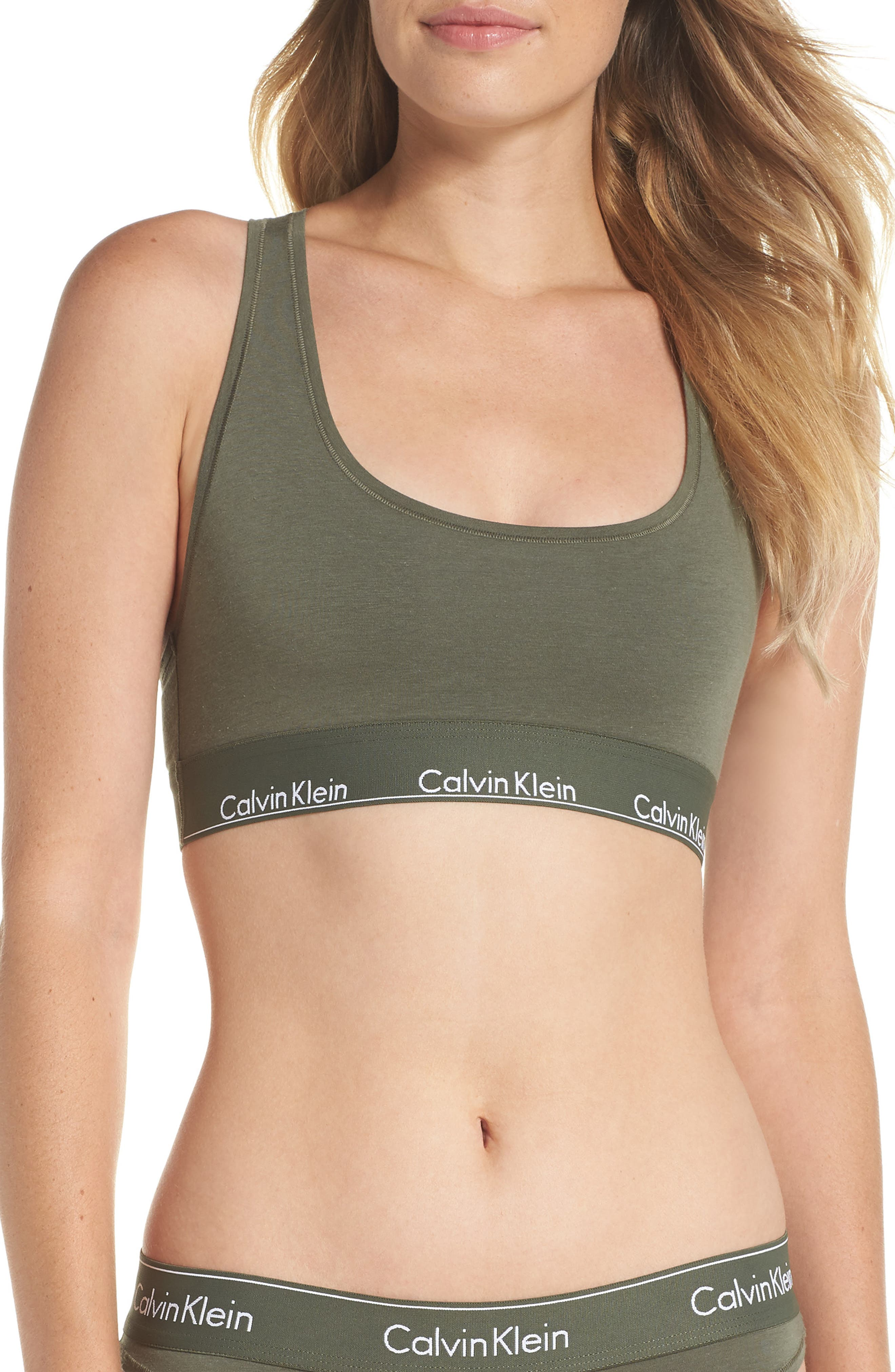 Modern Cotton Collection Cotton Blend Racerback Bralette,                             Alternate thumbnail 2, color,                             388