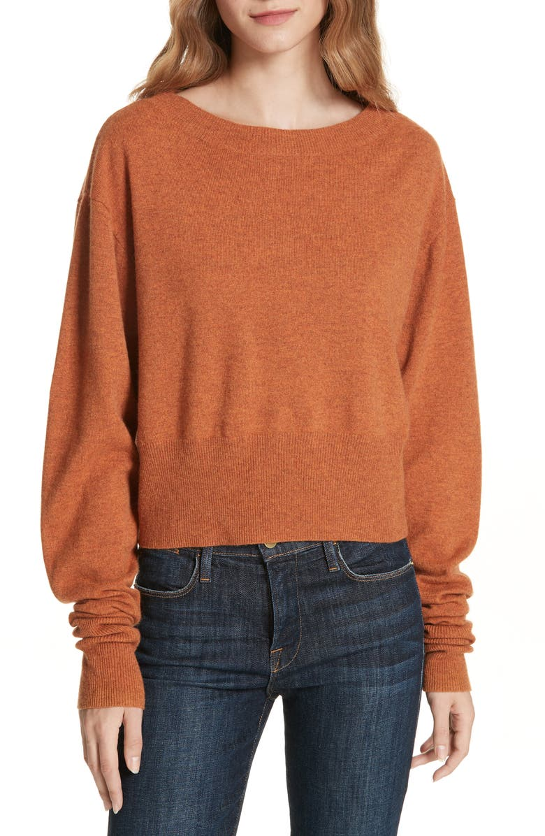Autumn Cashmere SCRUNCH SLEEVE CASHMERE SWEATER