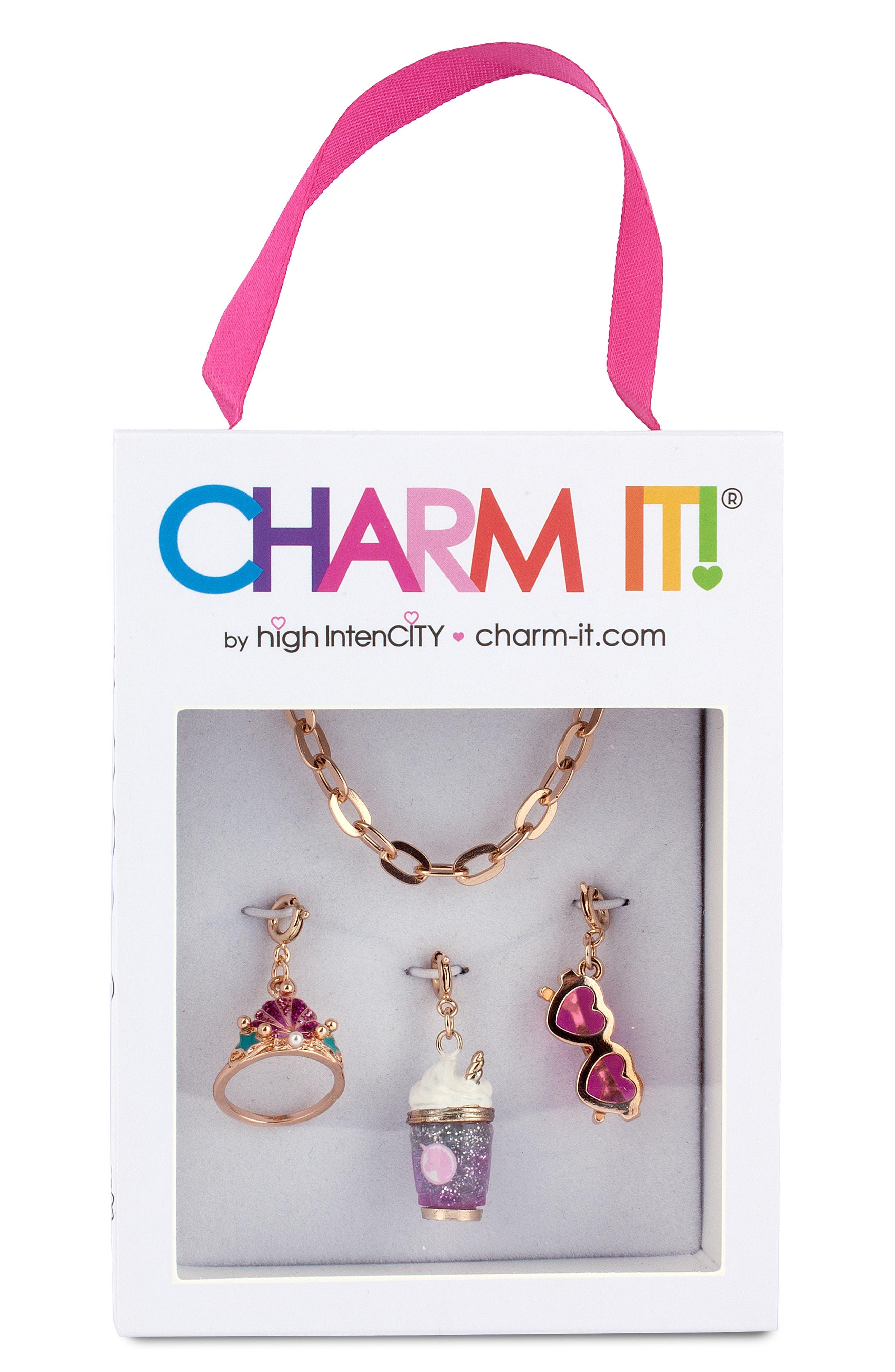 Girls Charm It Love Charm Bracelet Gift Set