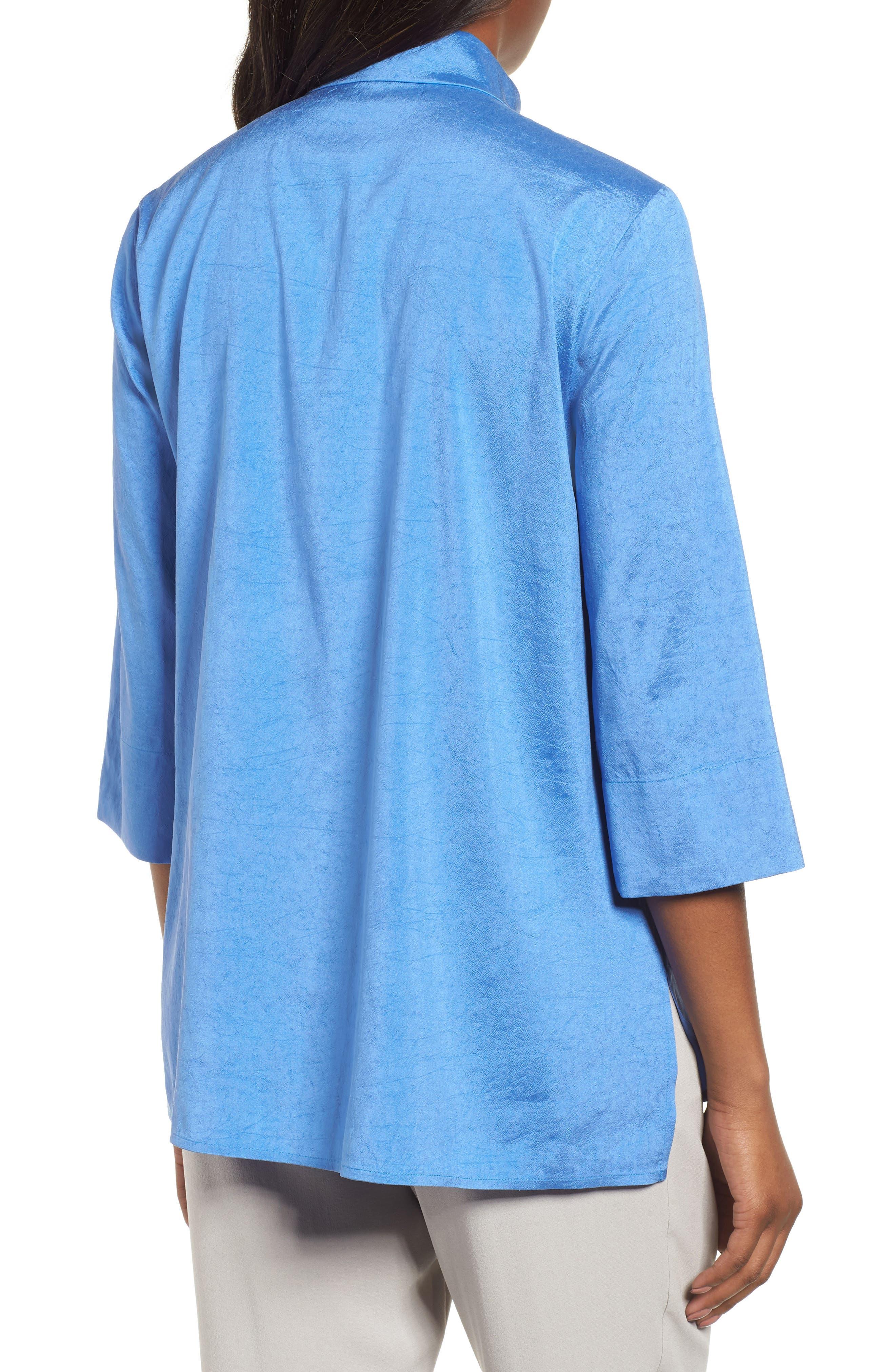 Crinkled Satin Silk Shirt,                             Alternate thumbnail 2, color,                             405