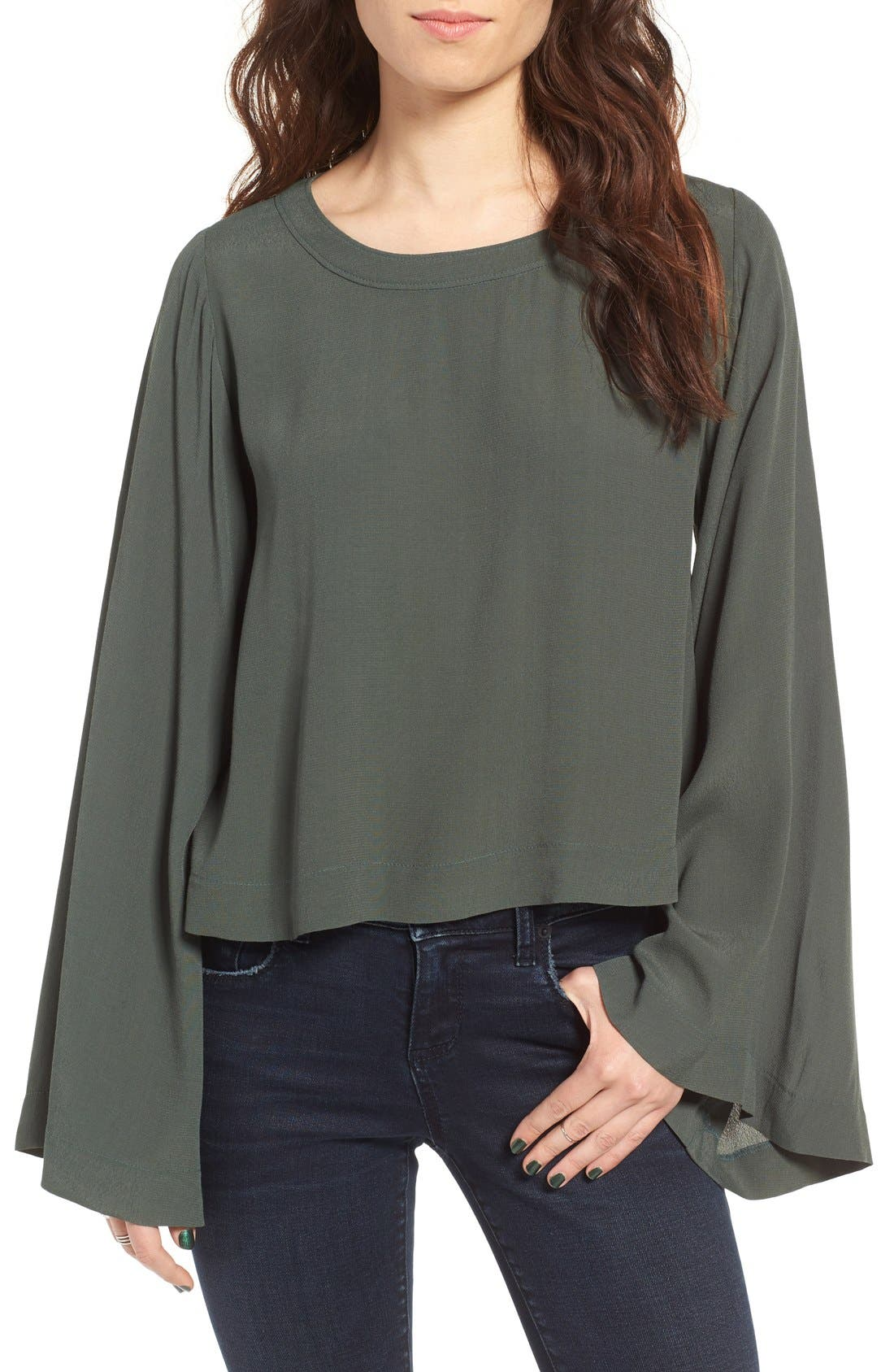 Bell Sleeve Blouse,                         Main,                         color,