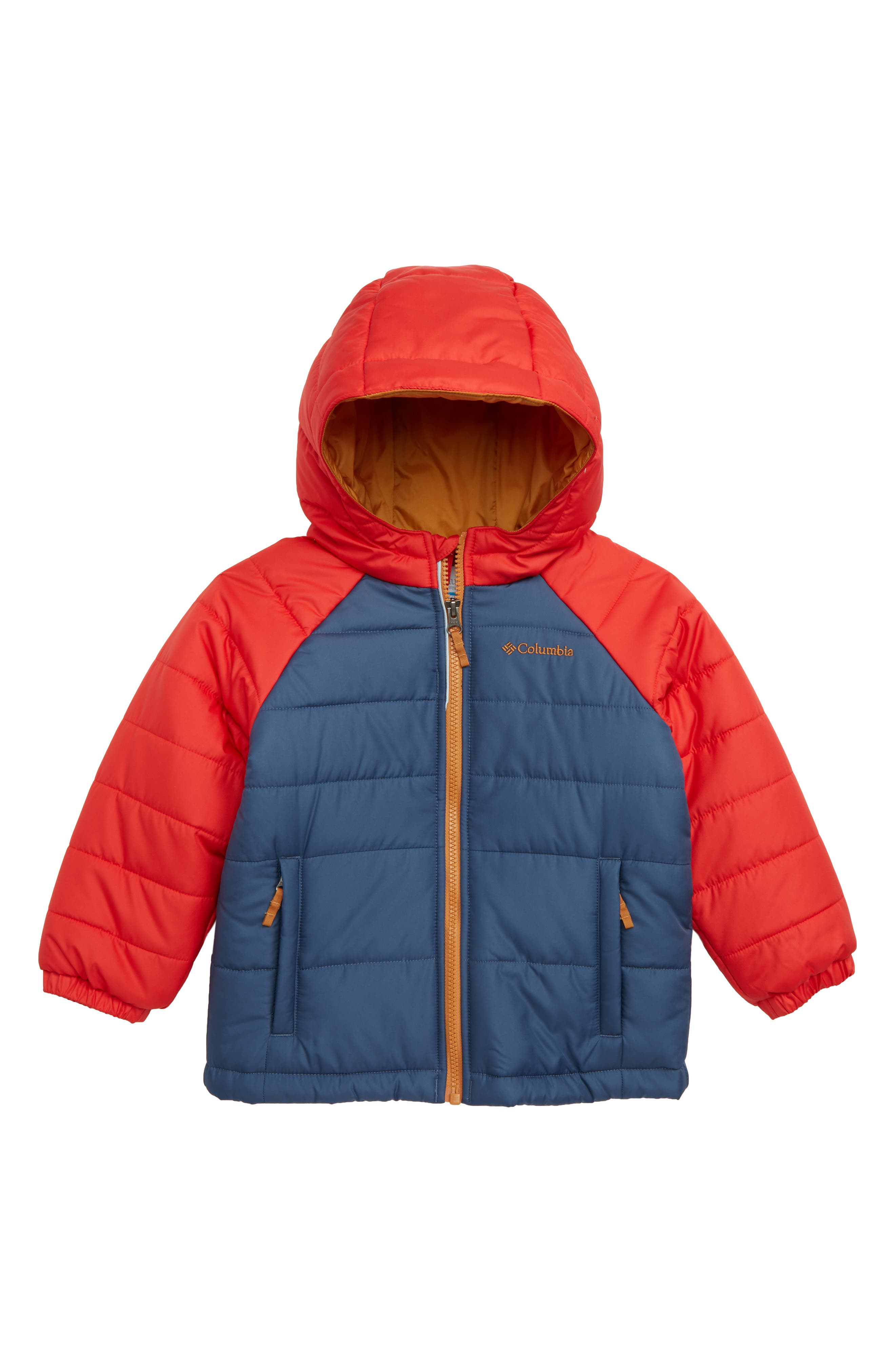 Tree Time Water Resistant Puffer Jacket,                         Main,                         color, BLUE