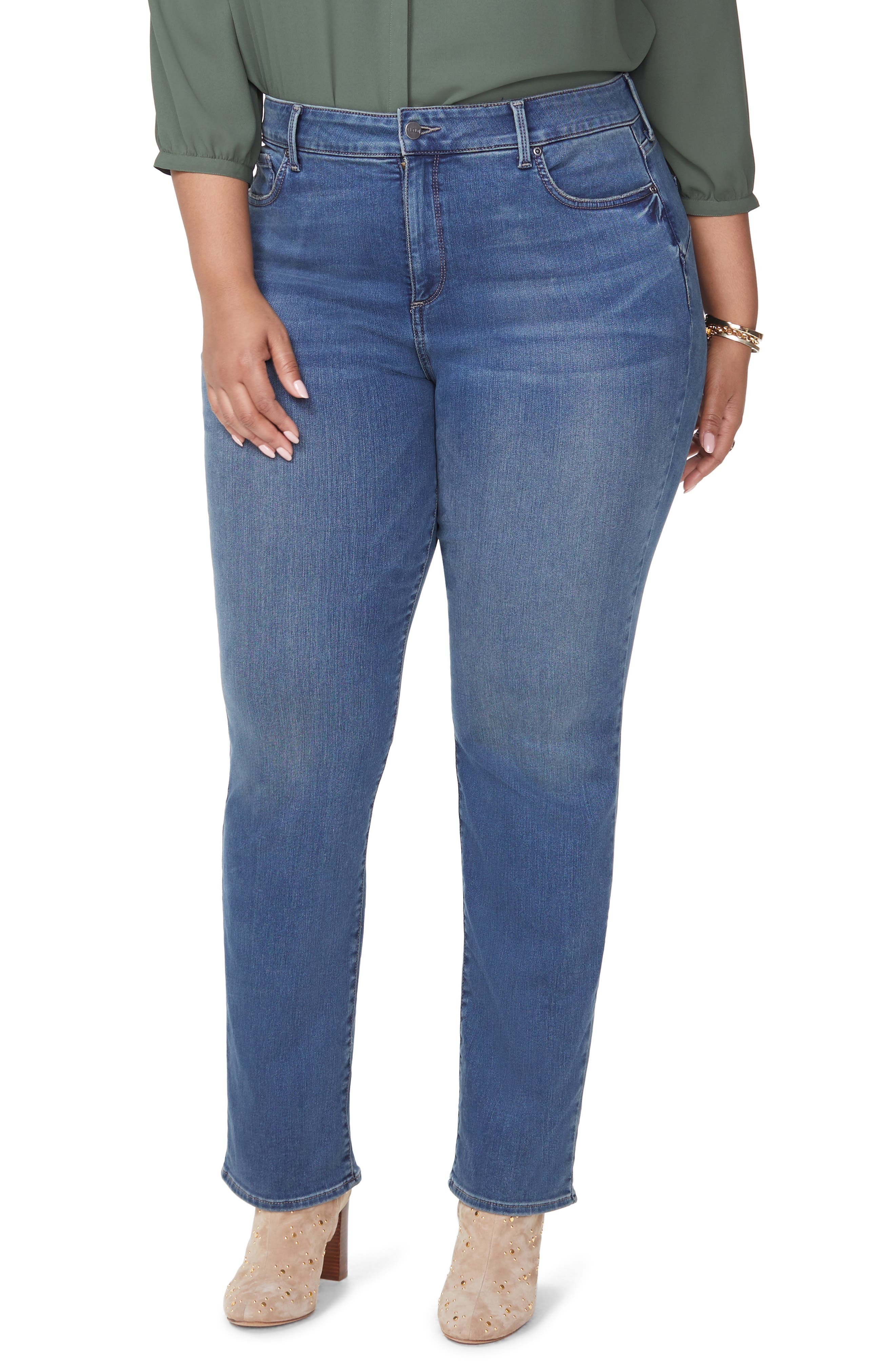 Marilyn Uplift Straight Leg Jeans,                         Main,                         color, FERRIS