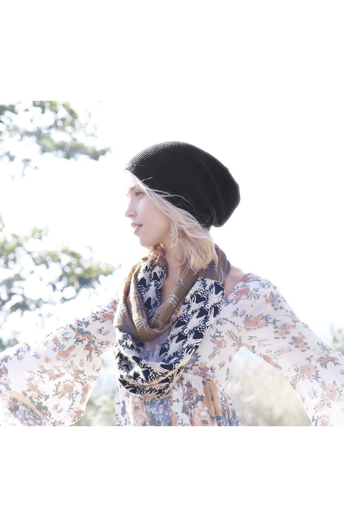 'Seasonless' Slouchy Knit Cap,                             Alternate thumbnail 5, color,                             001