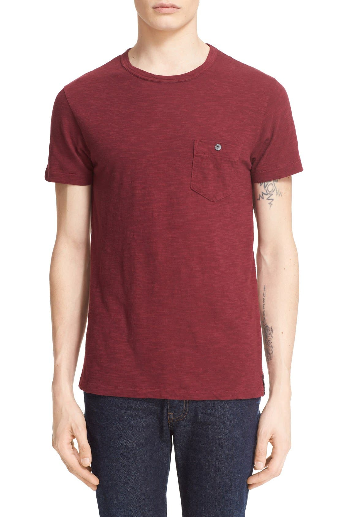 'Classic' Pocket T-Shirt,                             Main thumbnail 4, color,