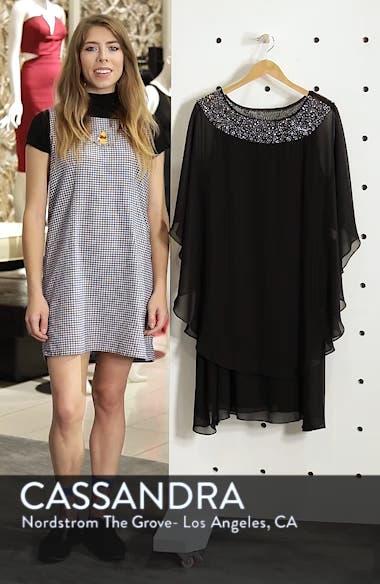 Beaded Neck Chiffon Overlay Dress, sales video thumbnail