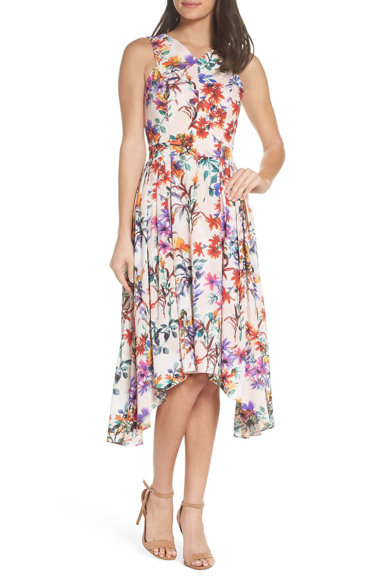 Vanessa Midi Dress,                         Main,                         color, 680