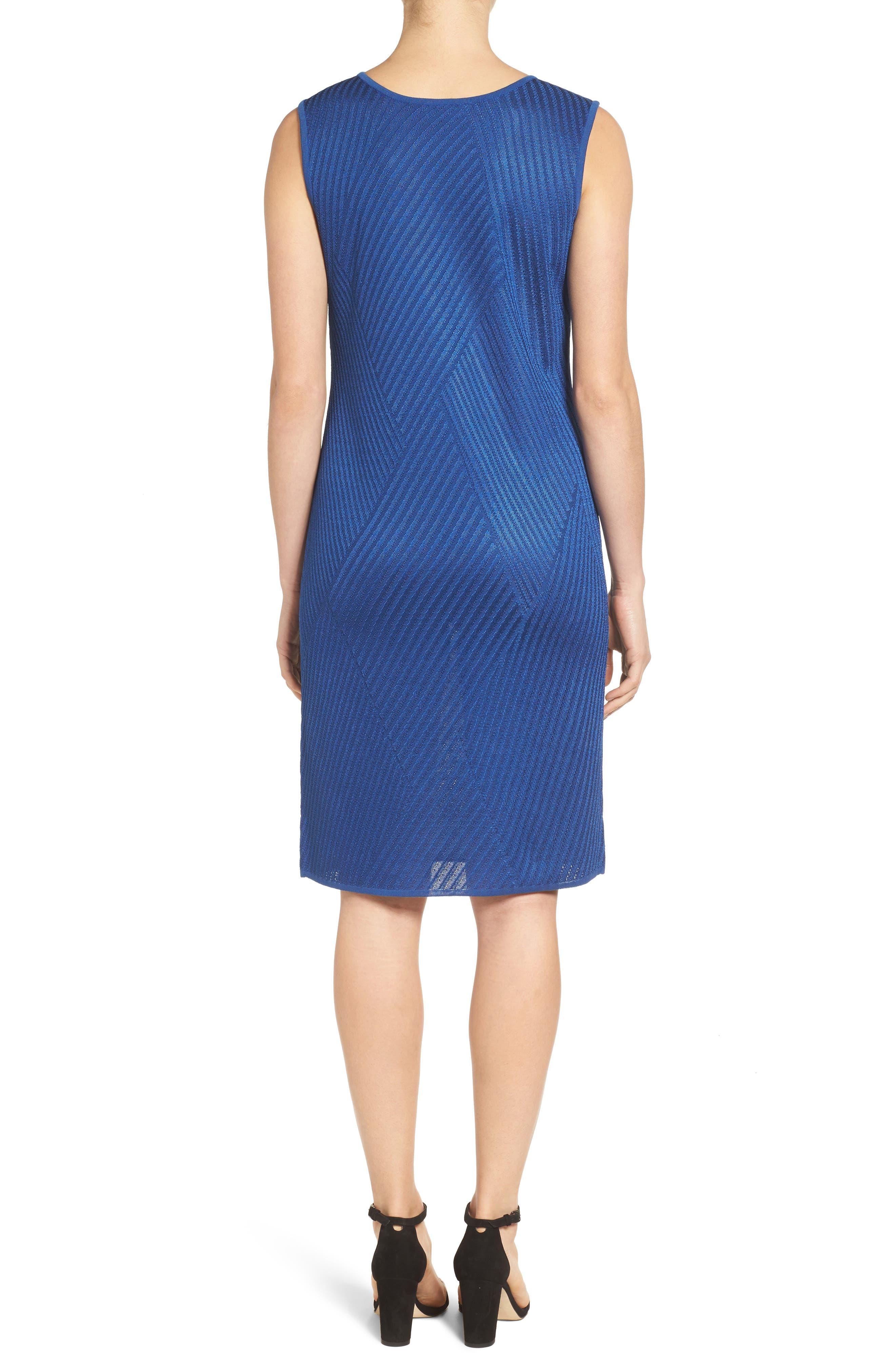 Texture Knit Sheath Dress,                             Alternate thumbnail 3, color,