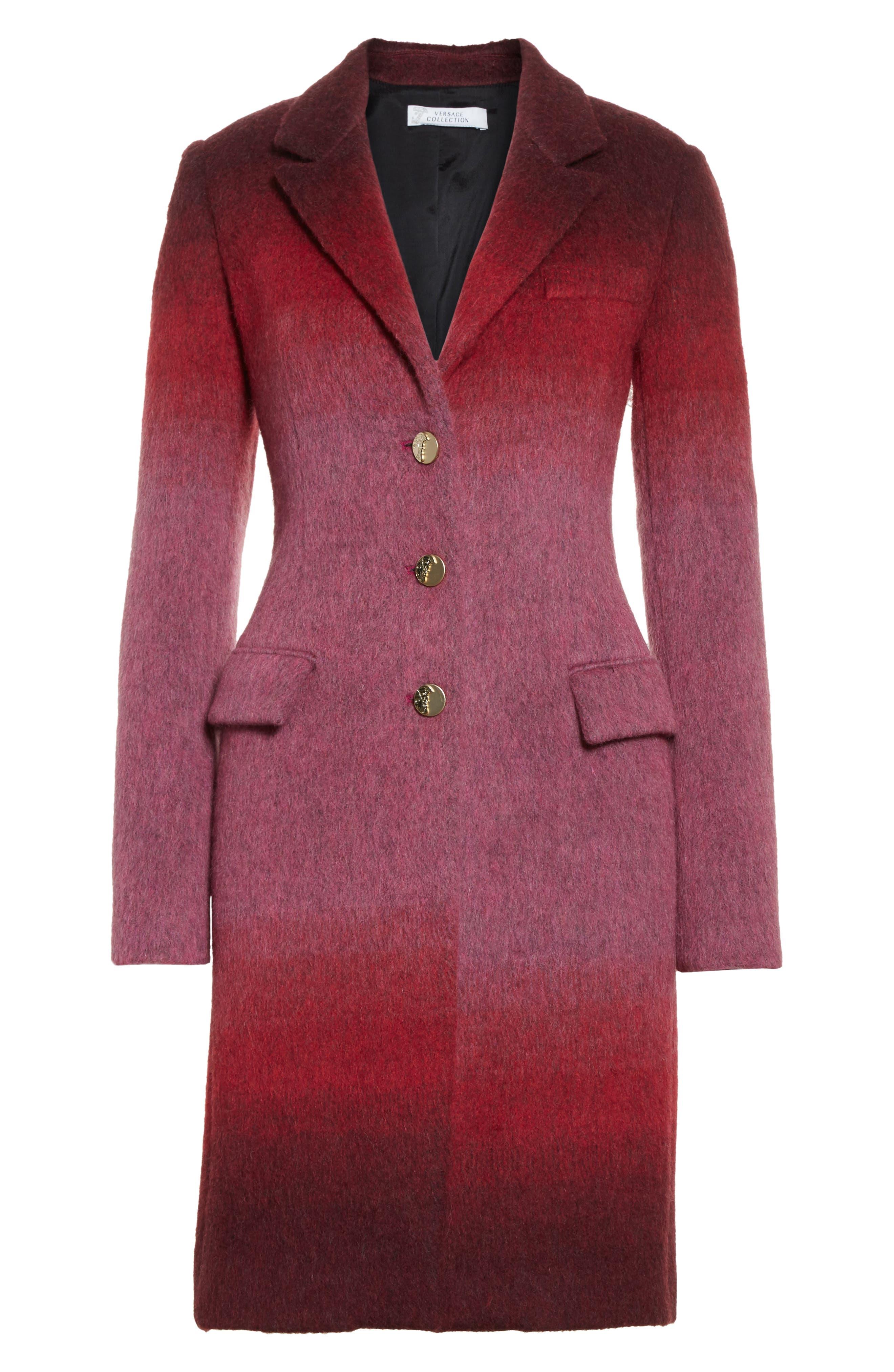 Collection Dégradé Wool Blend Coat,                             Alternate thumbnail 5, color,                             650