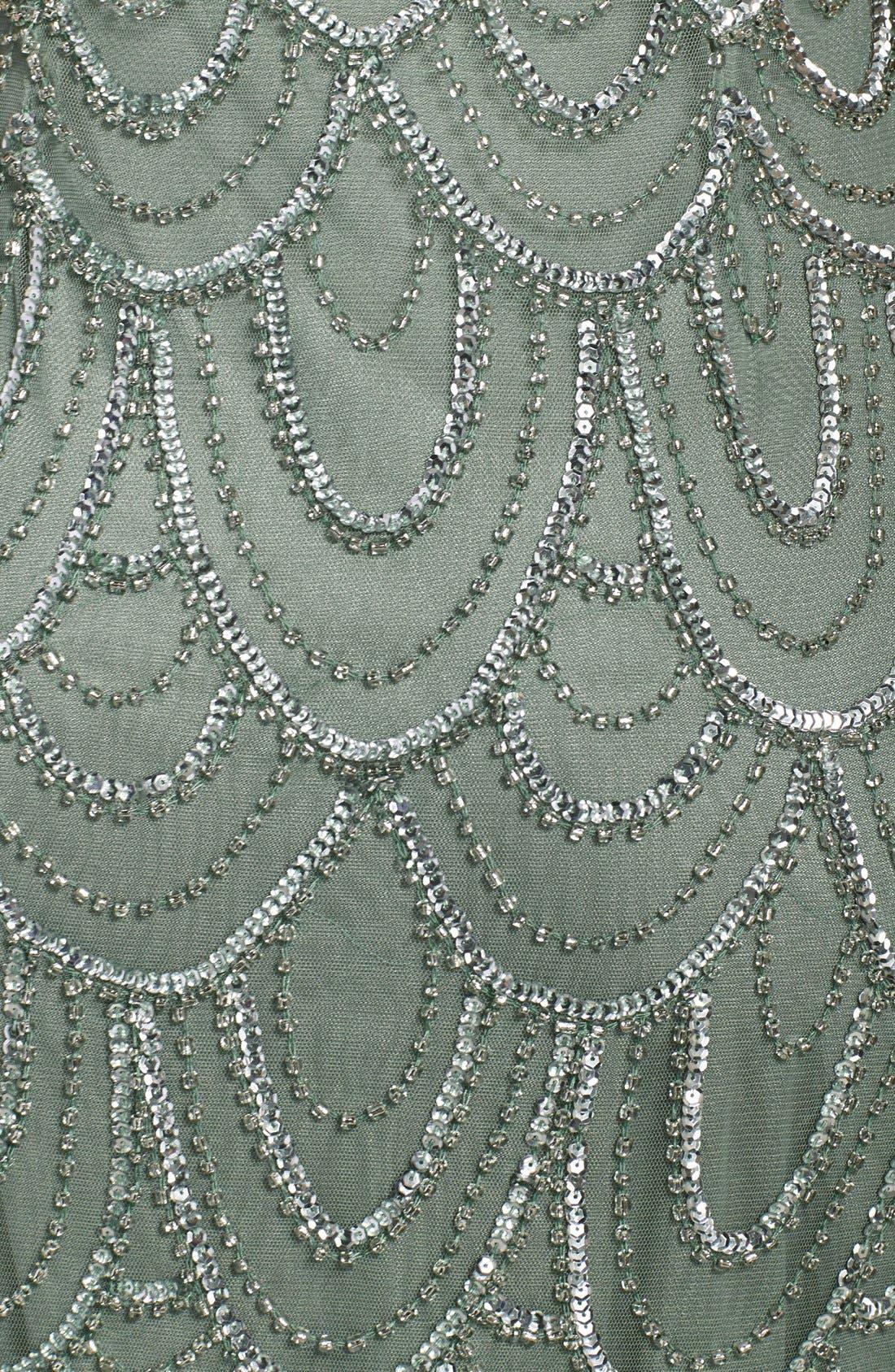Embellished Mesh Sheath Dress,                             Alternate thumbnail 34, color,