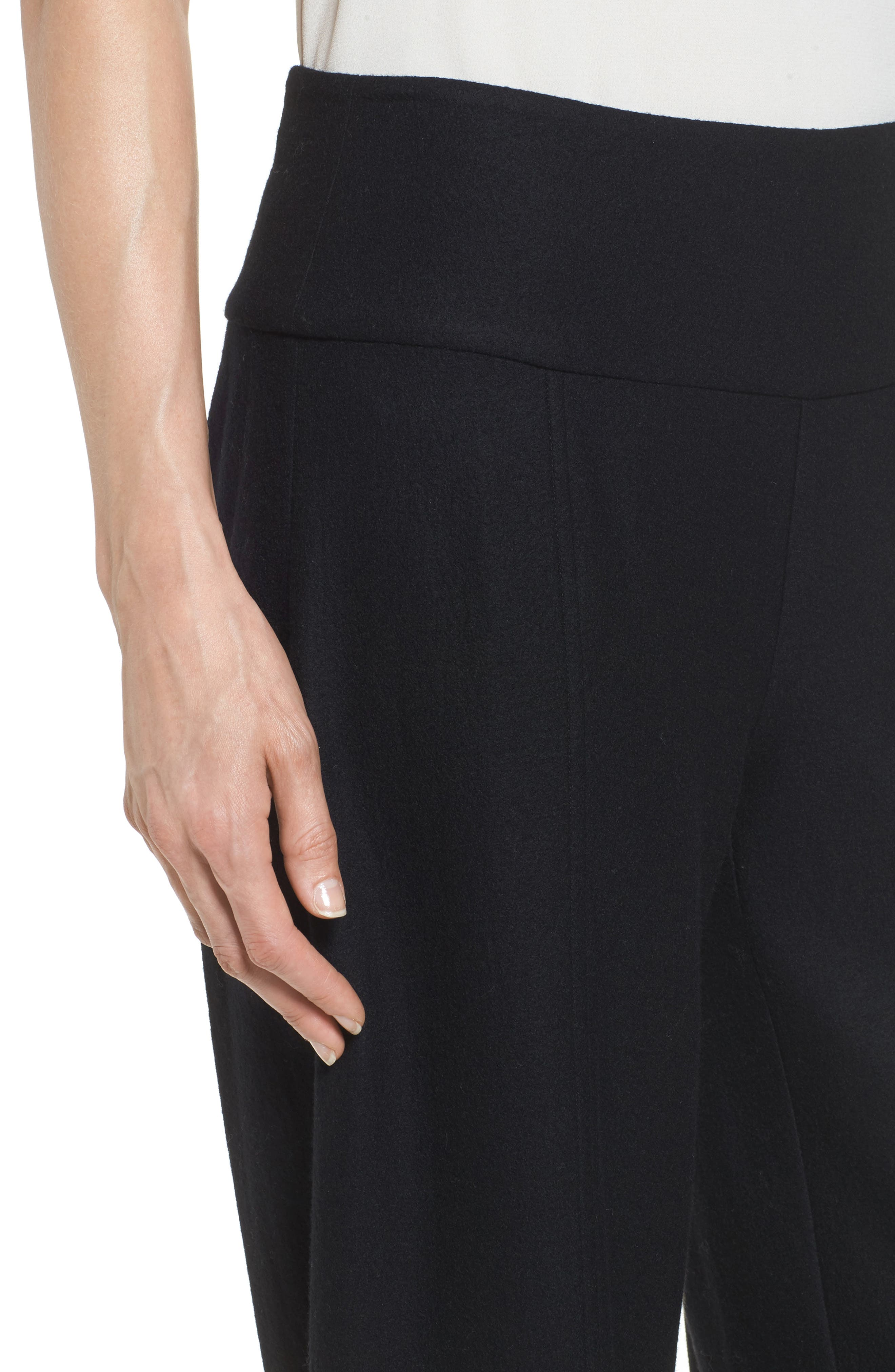 Wool Ankle Pants,                             Alternate thumbnail 4, color,                             001
