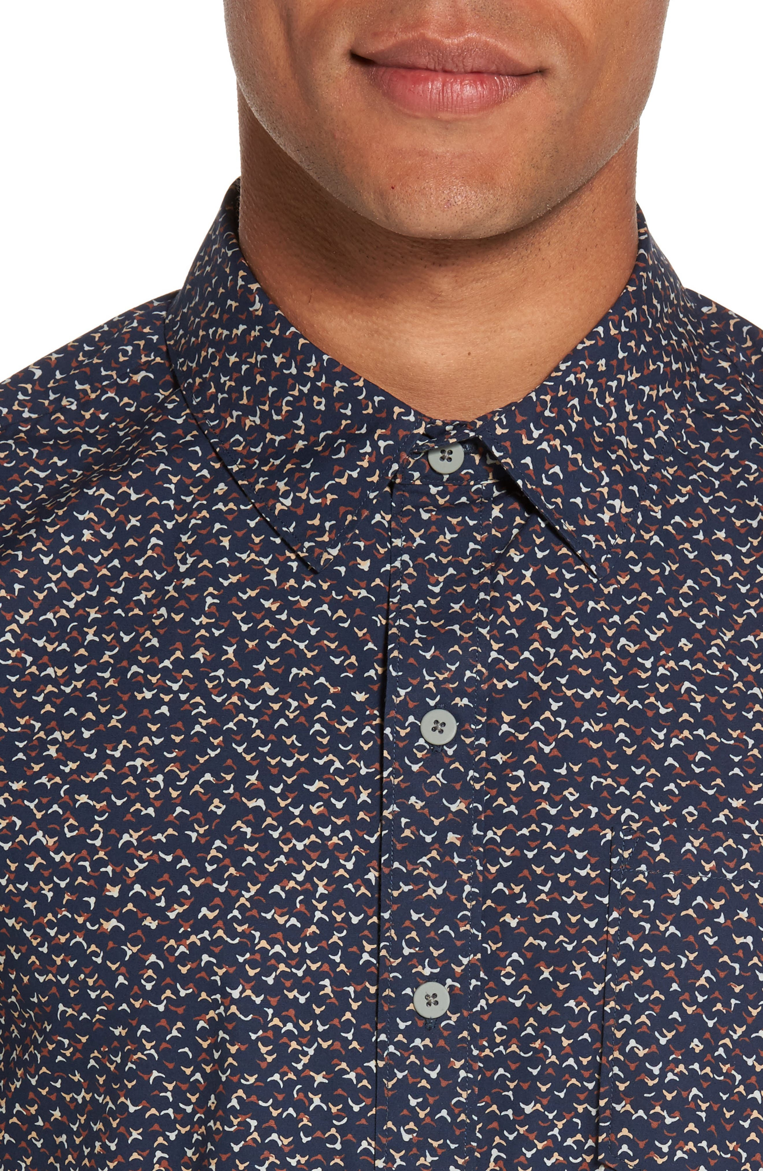 Becker Patterned Woven Shirt,                             Alternate thumbnail 4, color,                             400