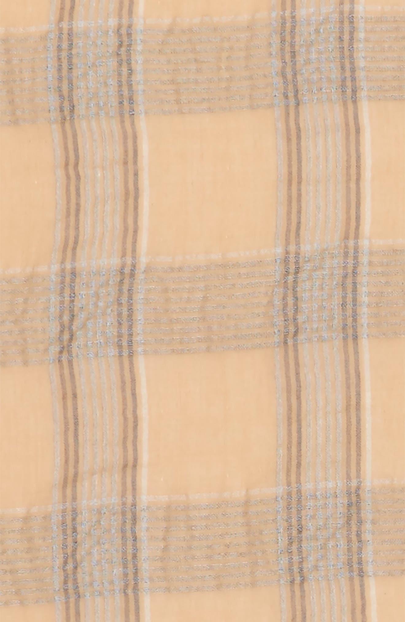 Reversible Plaid Scarf,                             Alternate thumbnail 3, color,                             250