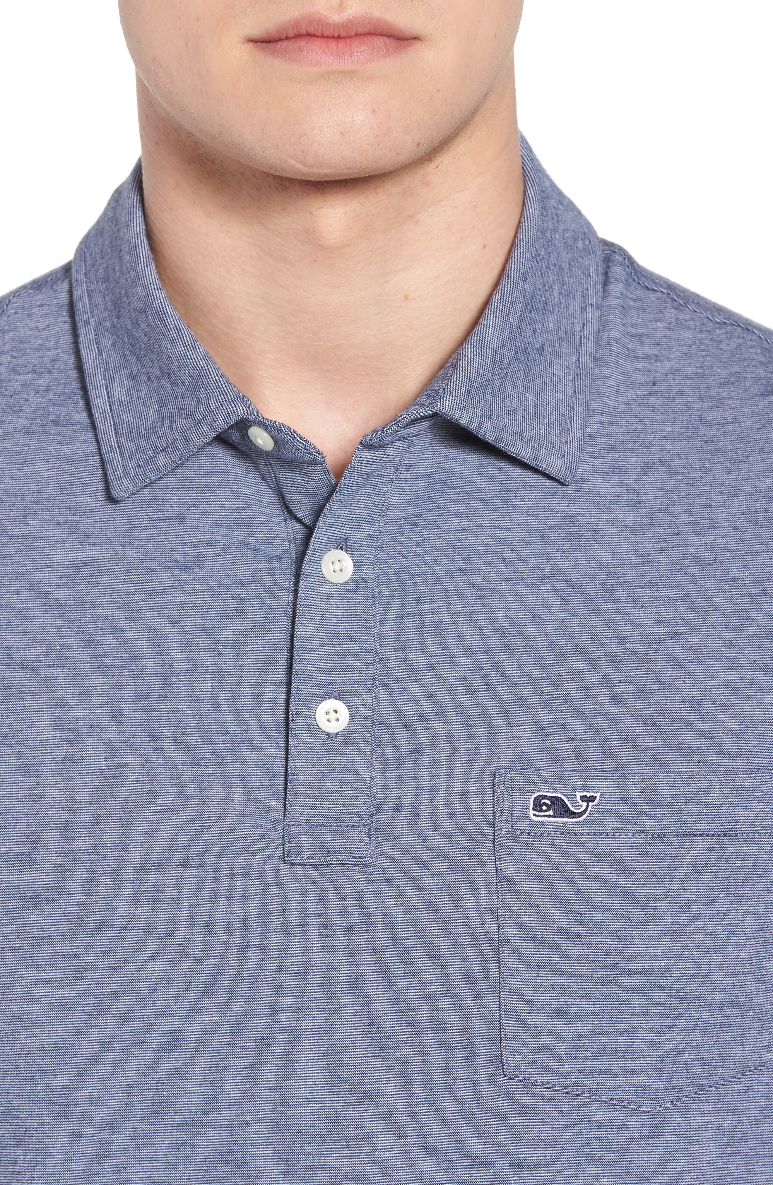 VINEYARD VINES,                             Edgartown Polo Shirt,                             Alternate thumbnail 4, color,                             DEEP BAY
