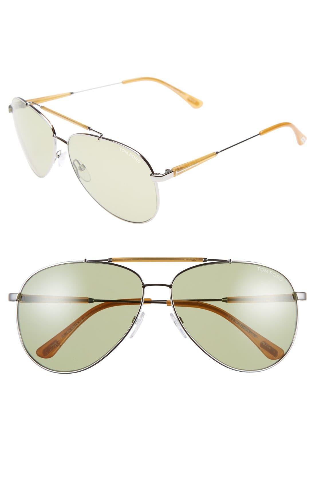 Rick 62mm Aviator Sunglasses,                             Main thumbnail 2, color,
