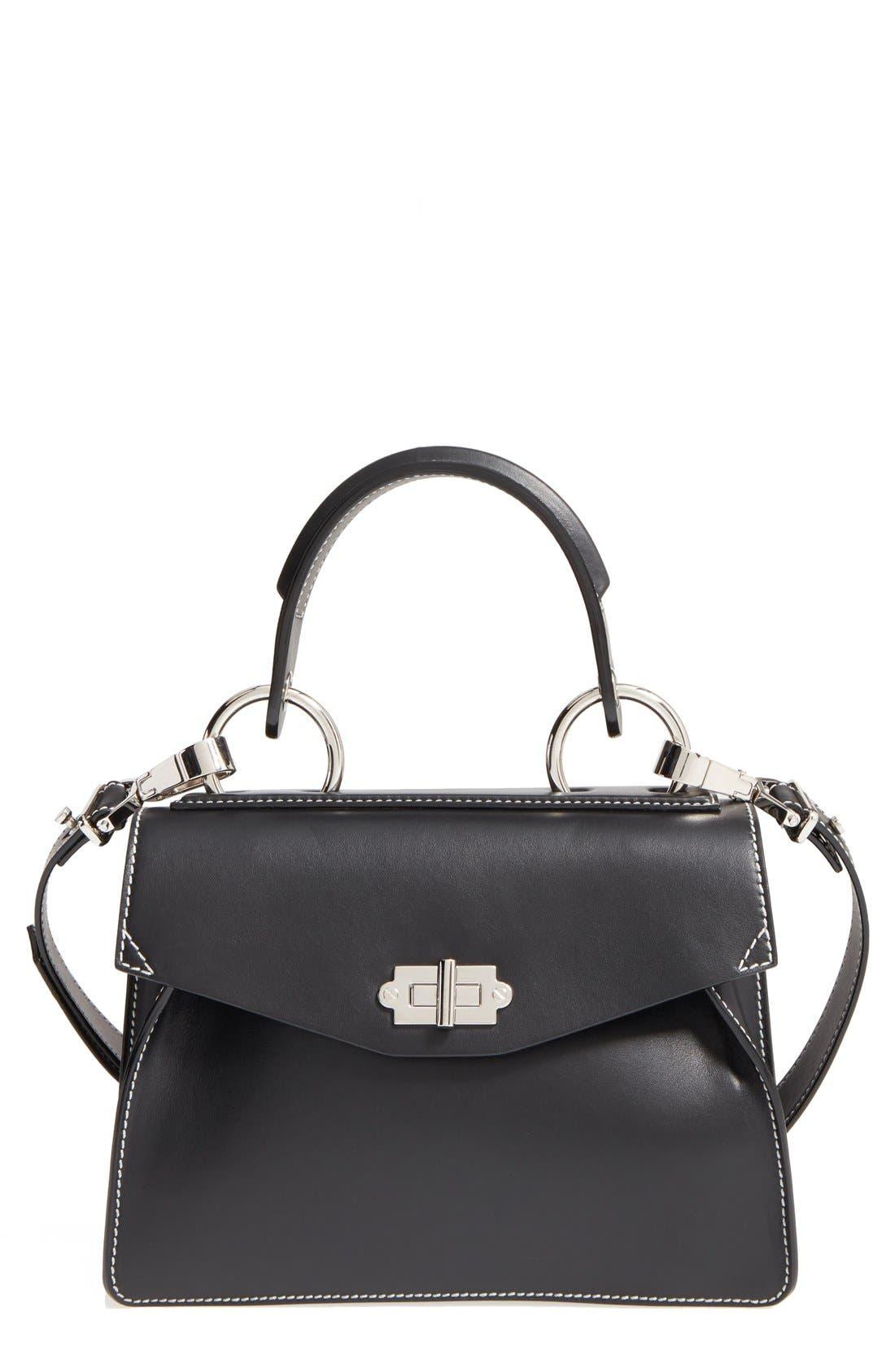 'Small Hava' Top Handle Calfskin Leather Satchel,                         Main,                         color,