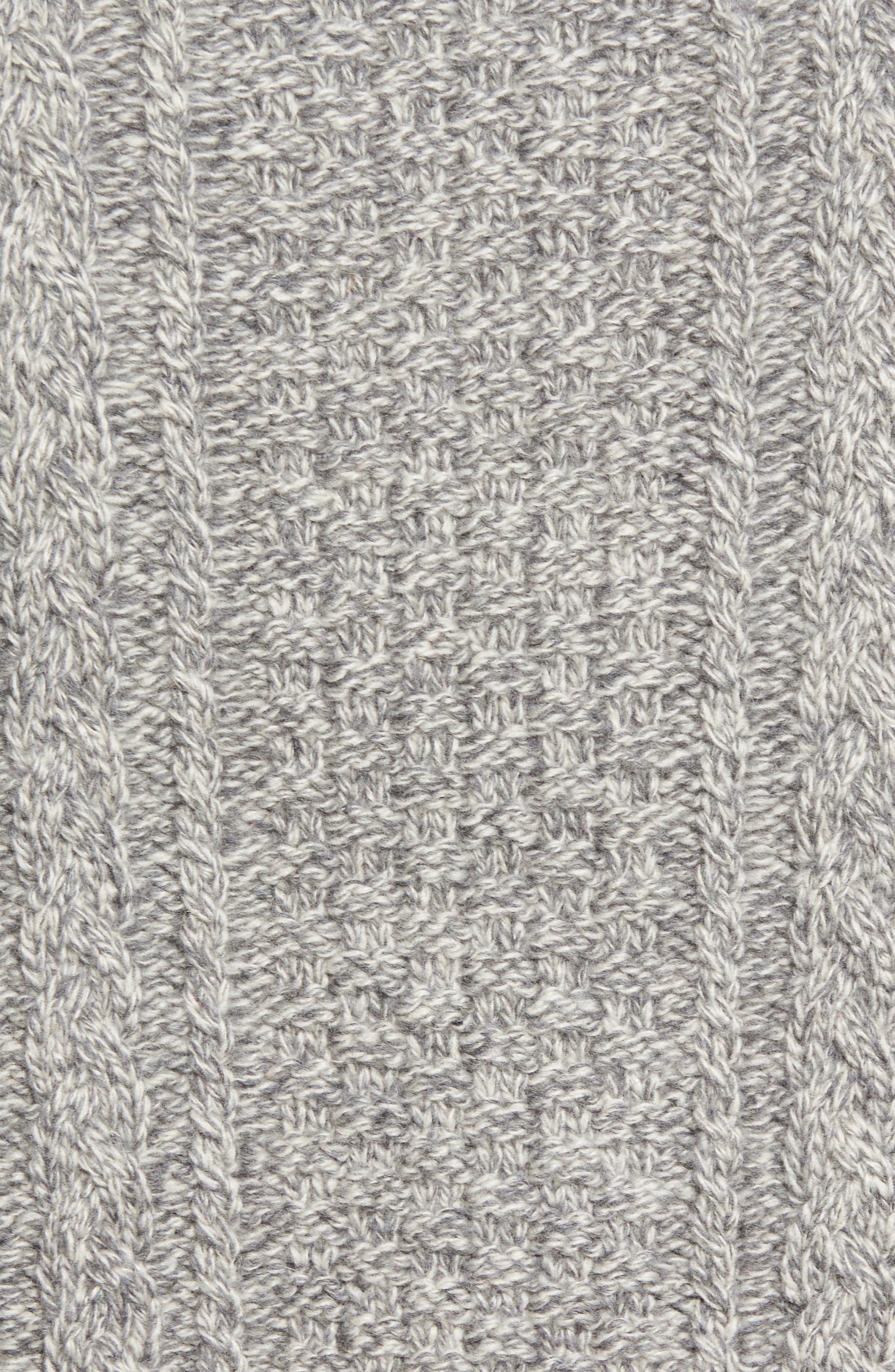 Fisherman Knit Wool Blend Sweater,                             Alternate thumbnail 9, color,