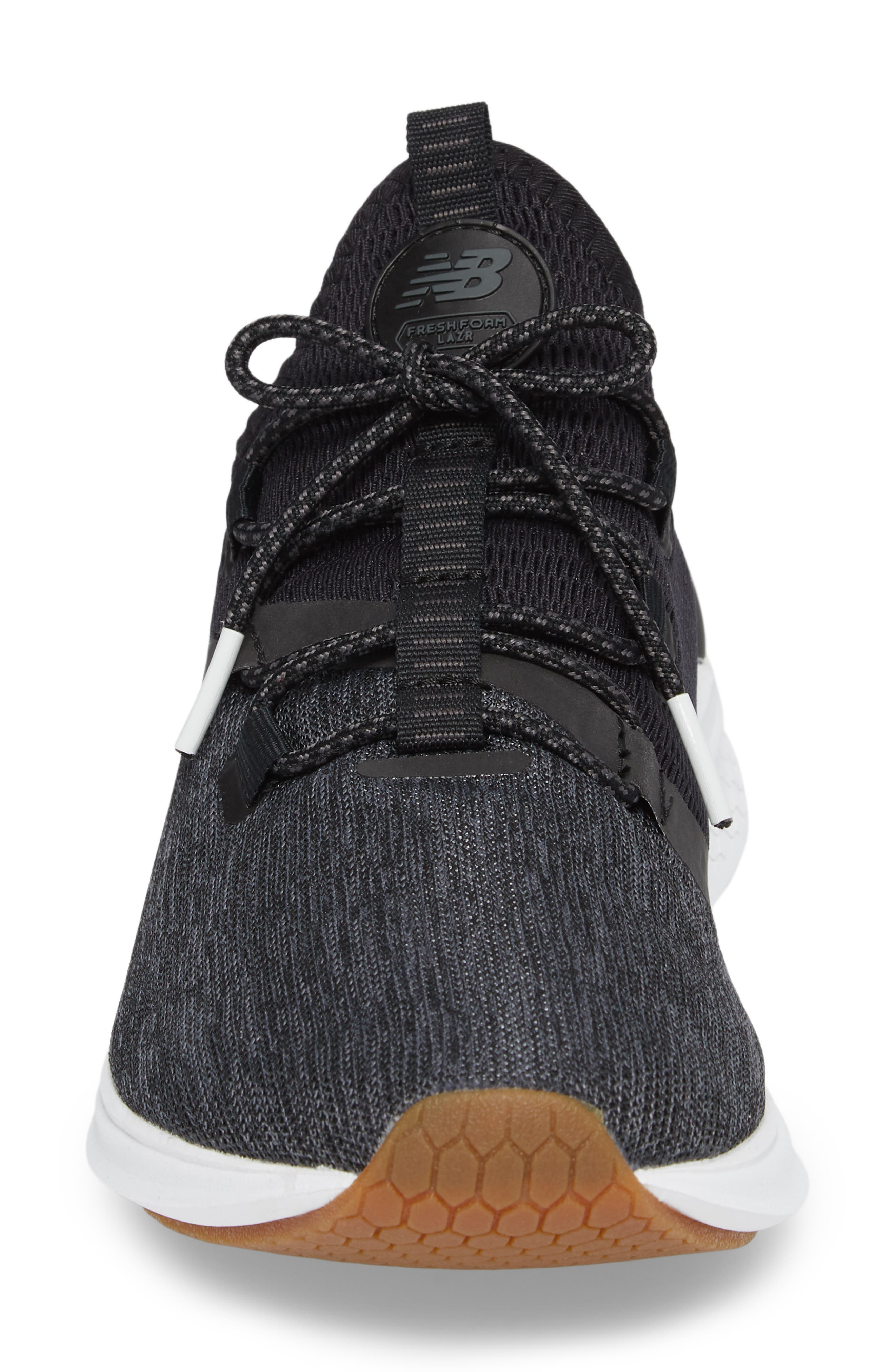 Fresh Foam Lazr Denim Fresh Foam Running Shoe,                             Alternate thumbnail 4, color,                             001