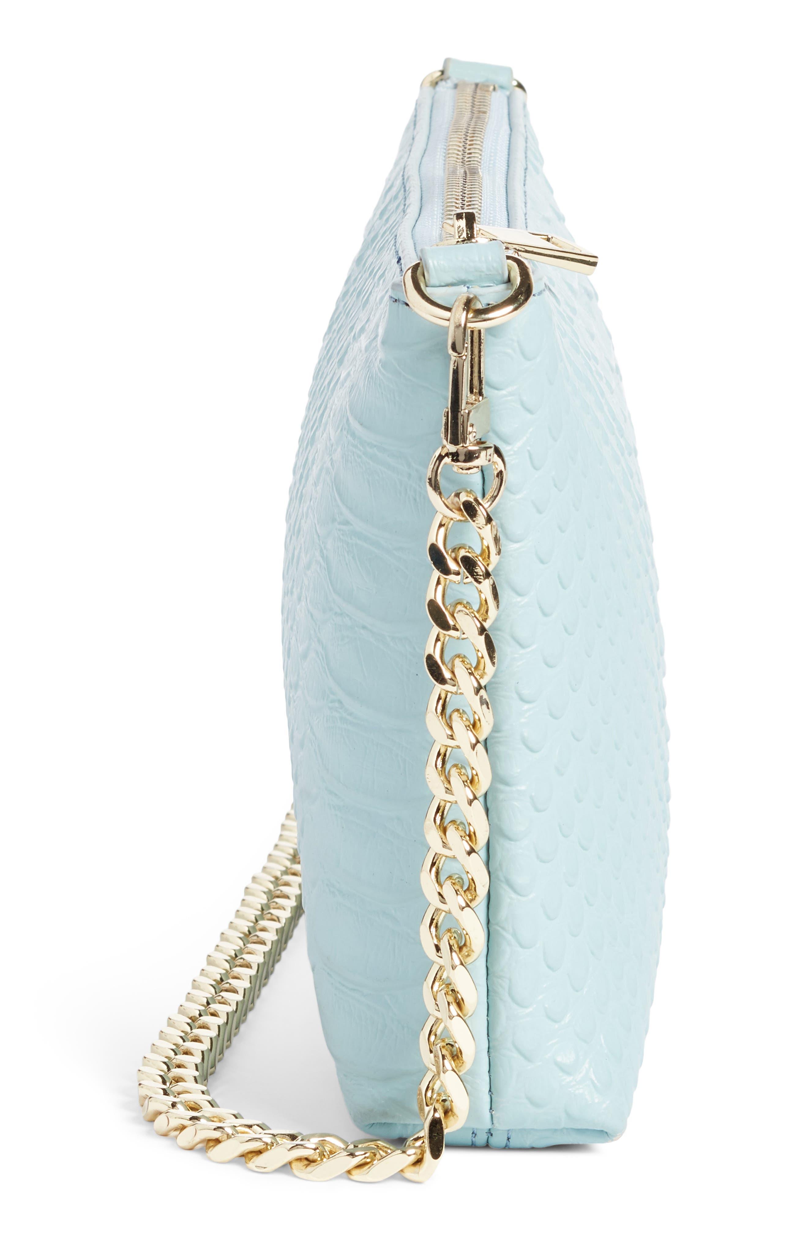 Lola Textured Faux Leather Crossbody Bag,                             Alternate thumbnail 9, color,