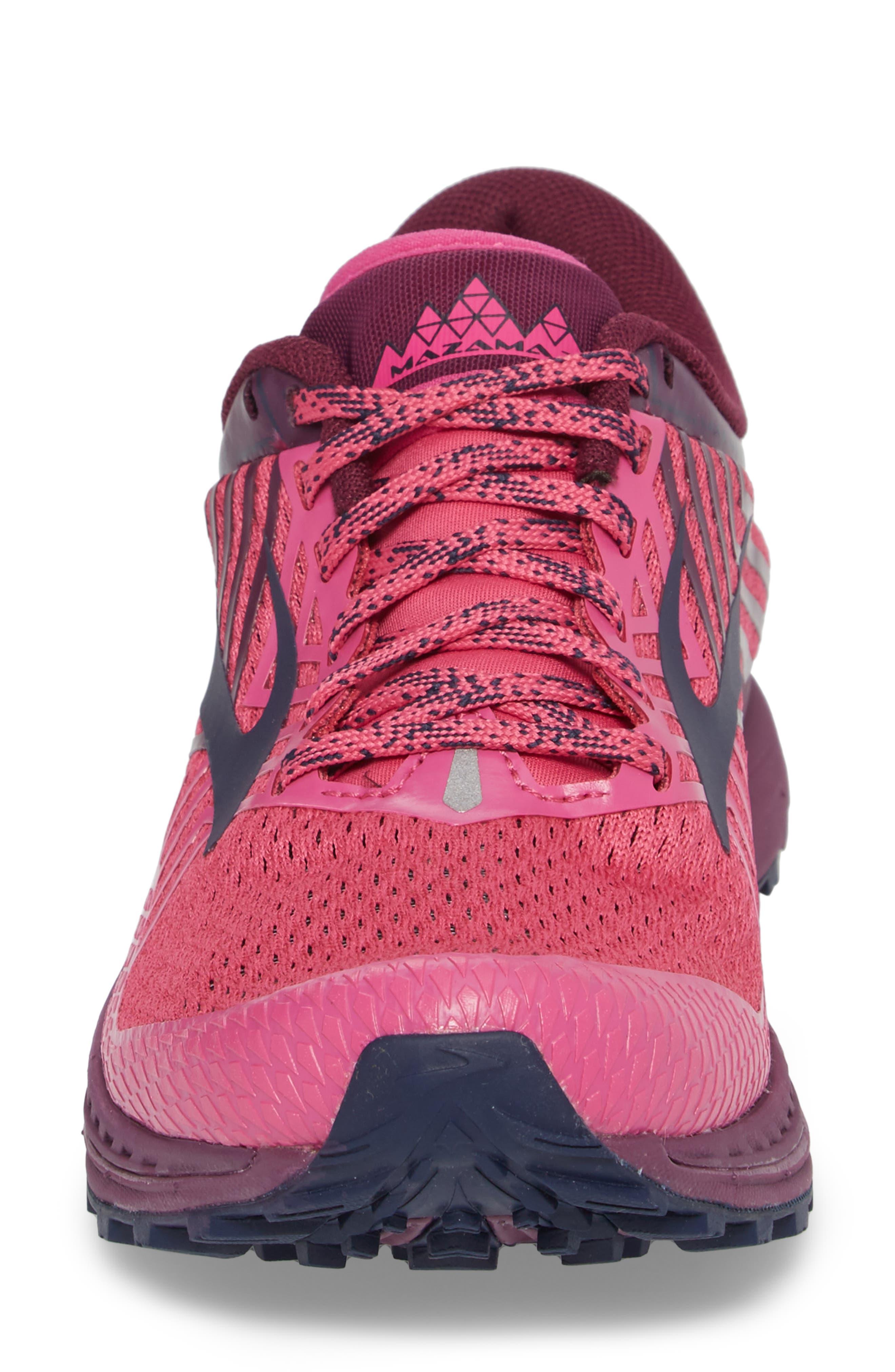 Mazama 2 Trail Running Shoe,                             Alternate thumbnail 4, color,                             PINK/ PLUM/ NAVY