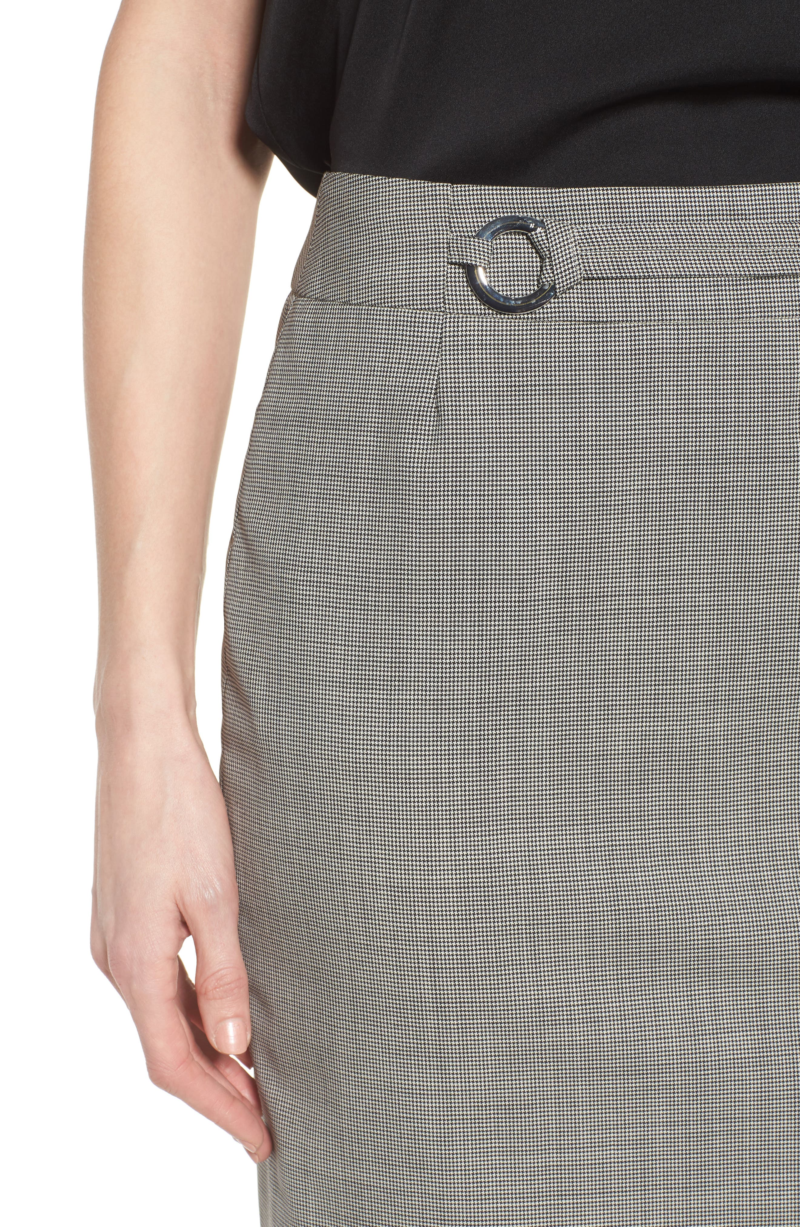 Vavilla Stretch Wool Suit Skirt,                             Alternate thumbnail 4, color,                             006