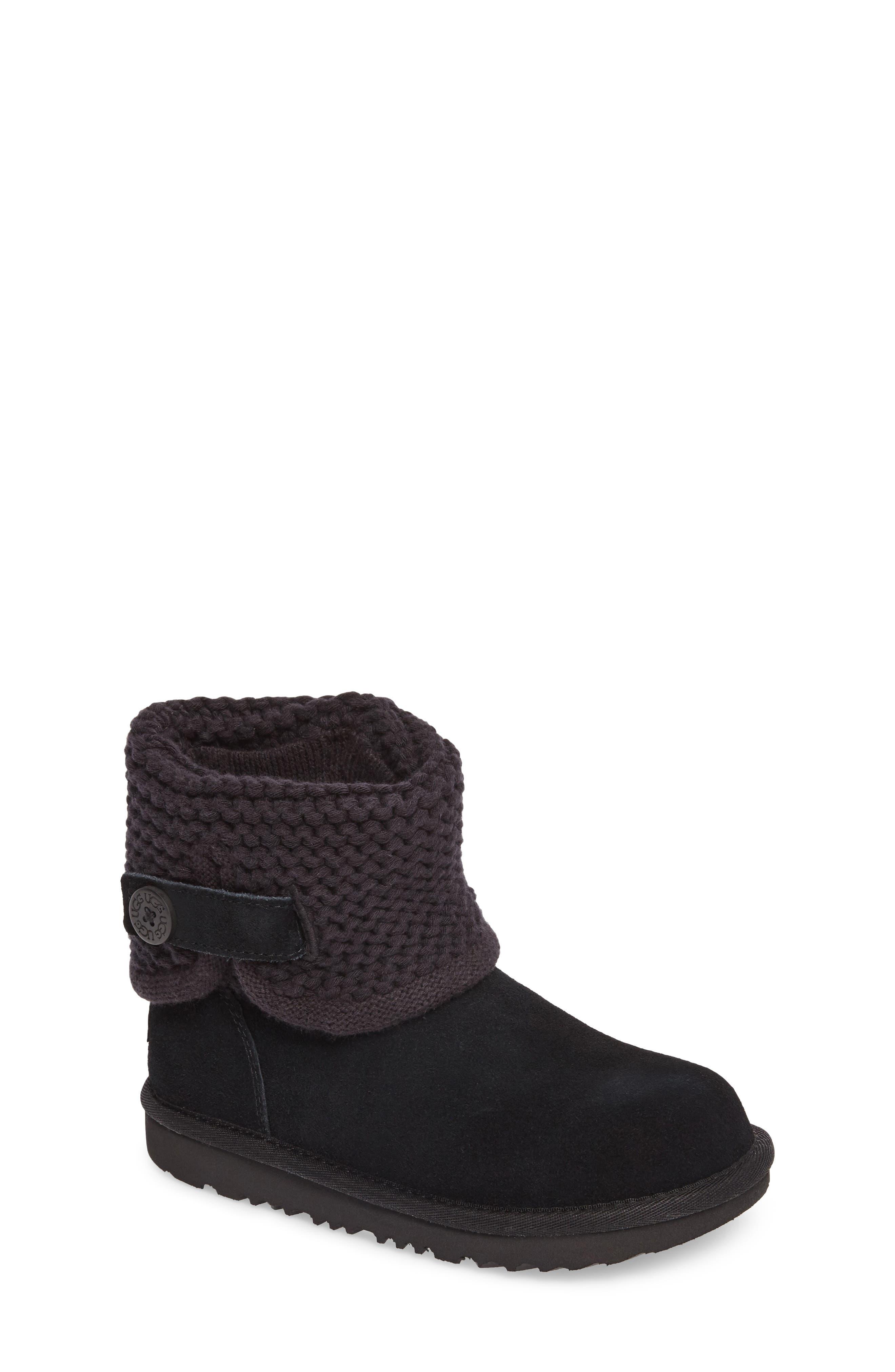 Darrah II Knit Cuff Boot,                             Main thumbnail 1, color,                             001