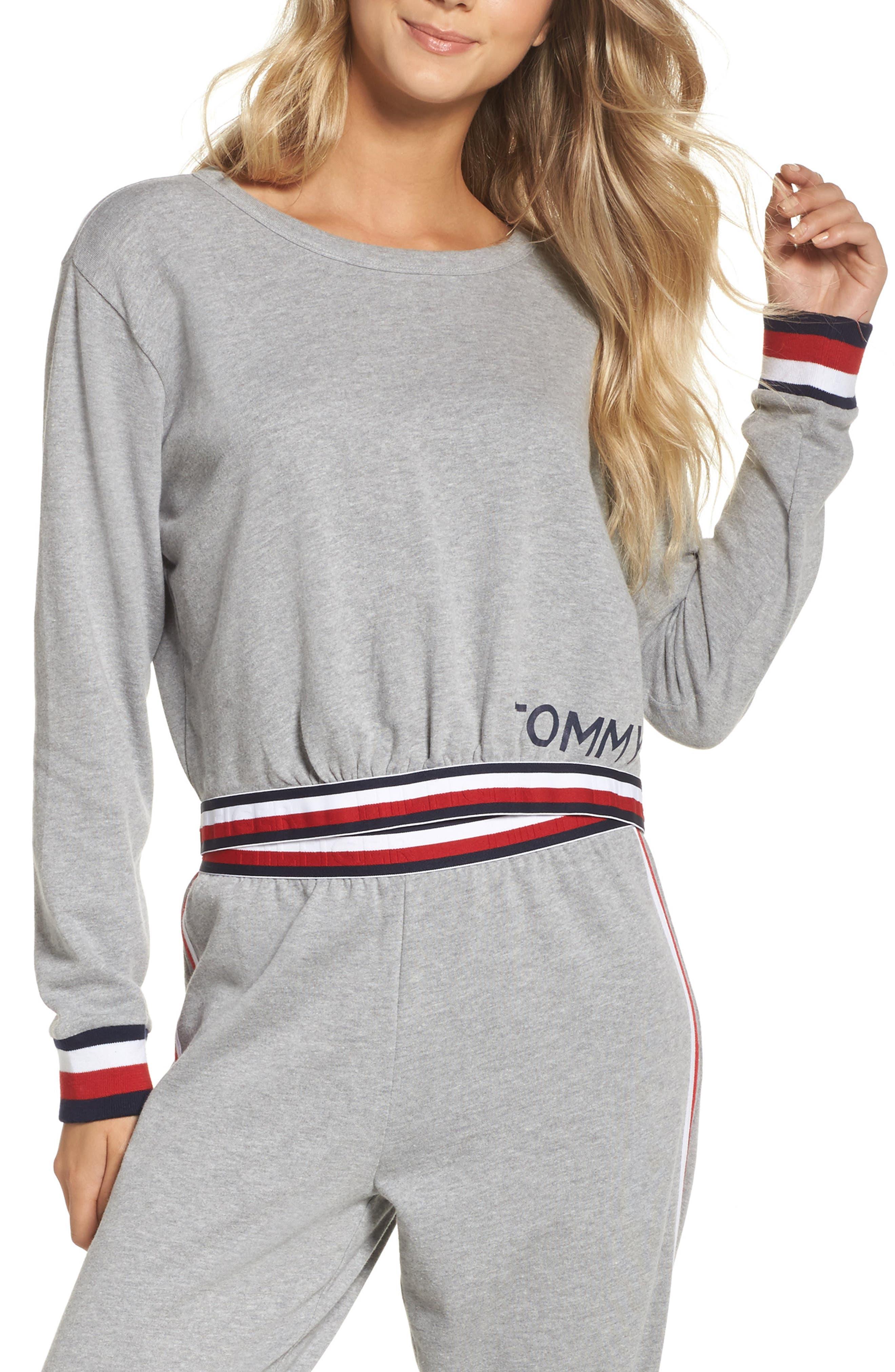 Crop Sweatshirt,                         Main,                         color, 020