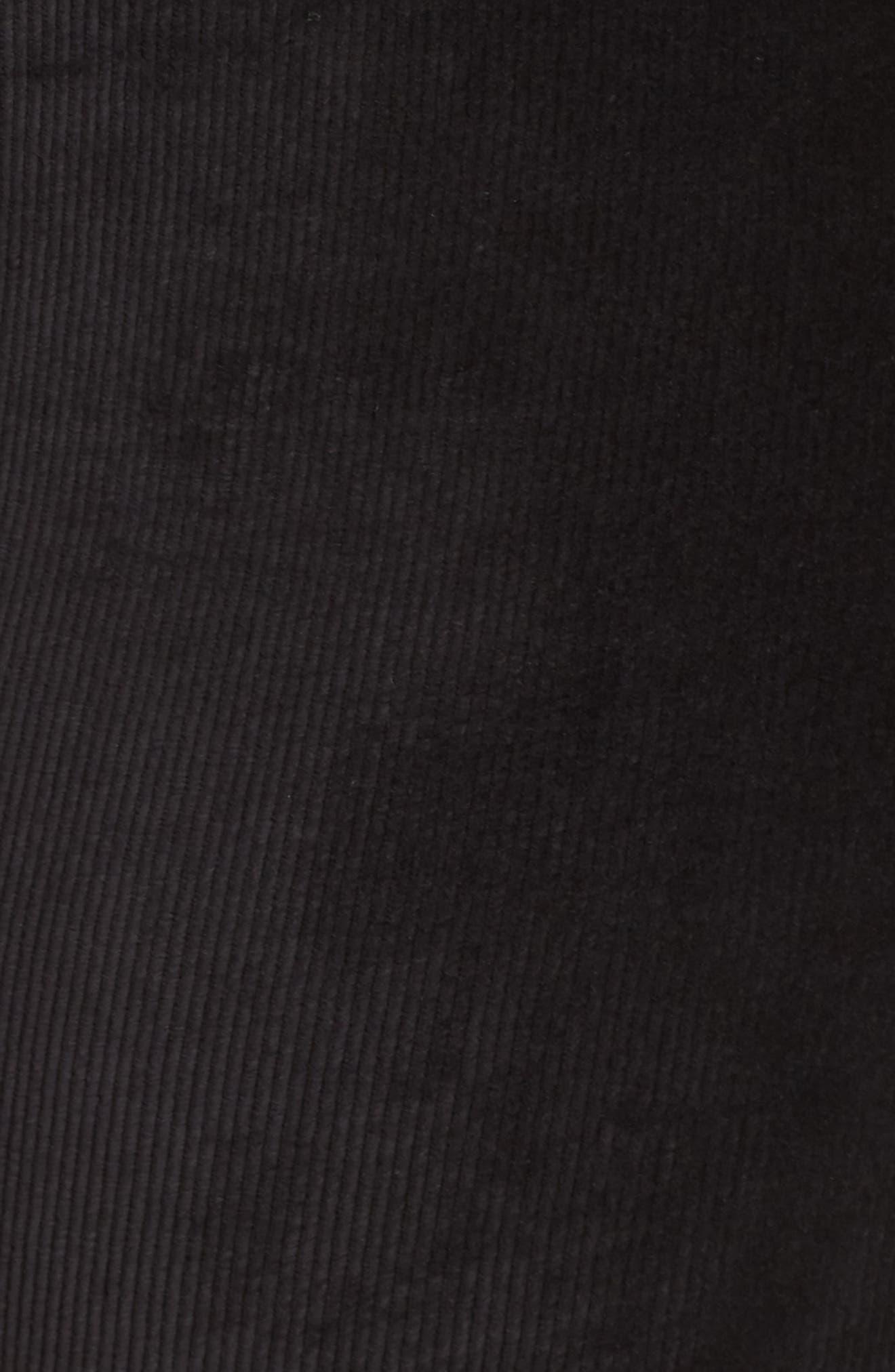 Corduroy Leggings,                             Alternate thumbnail 6, color,                             BLACK