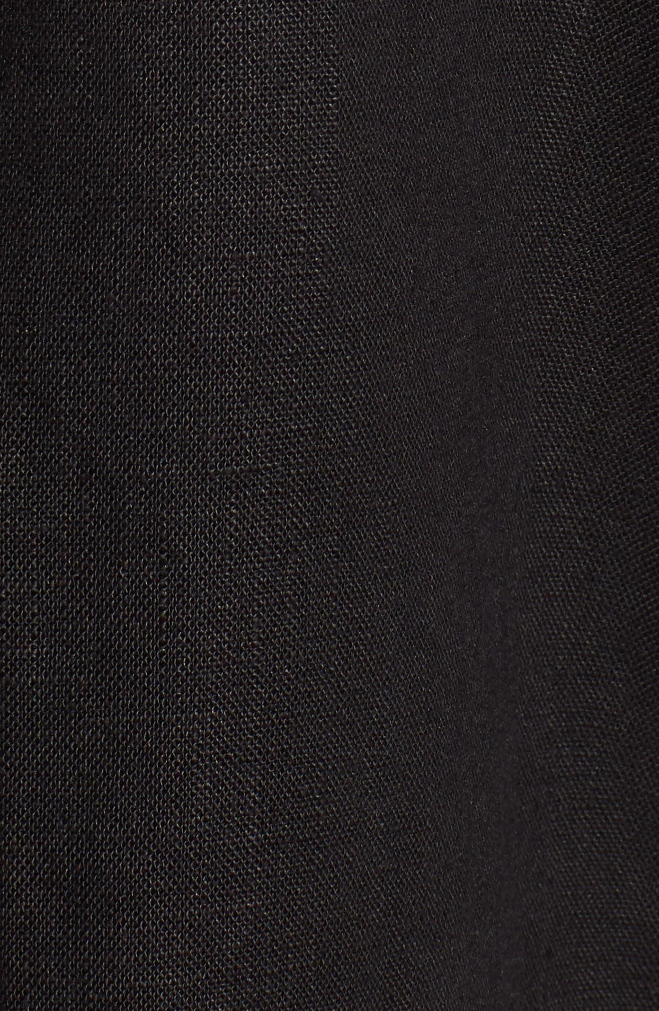 Organic Linen Jacket,                             Alternate thumbnail 7, color,                             001