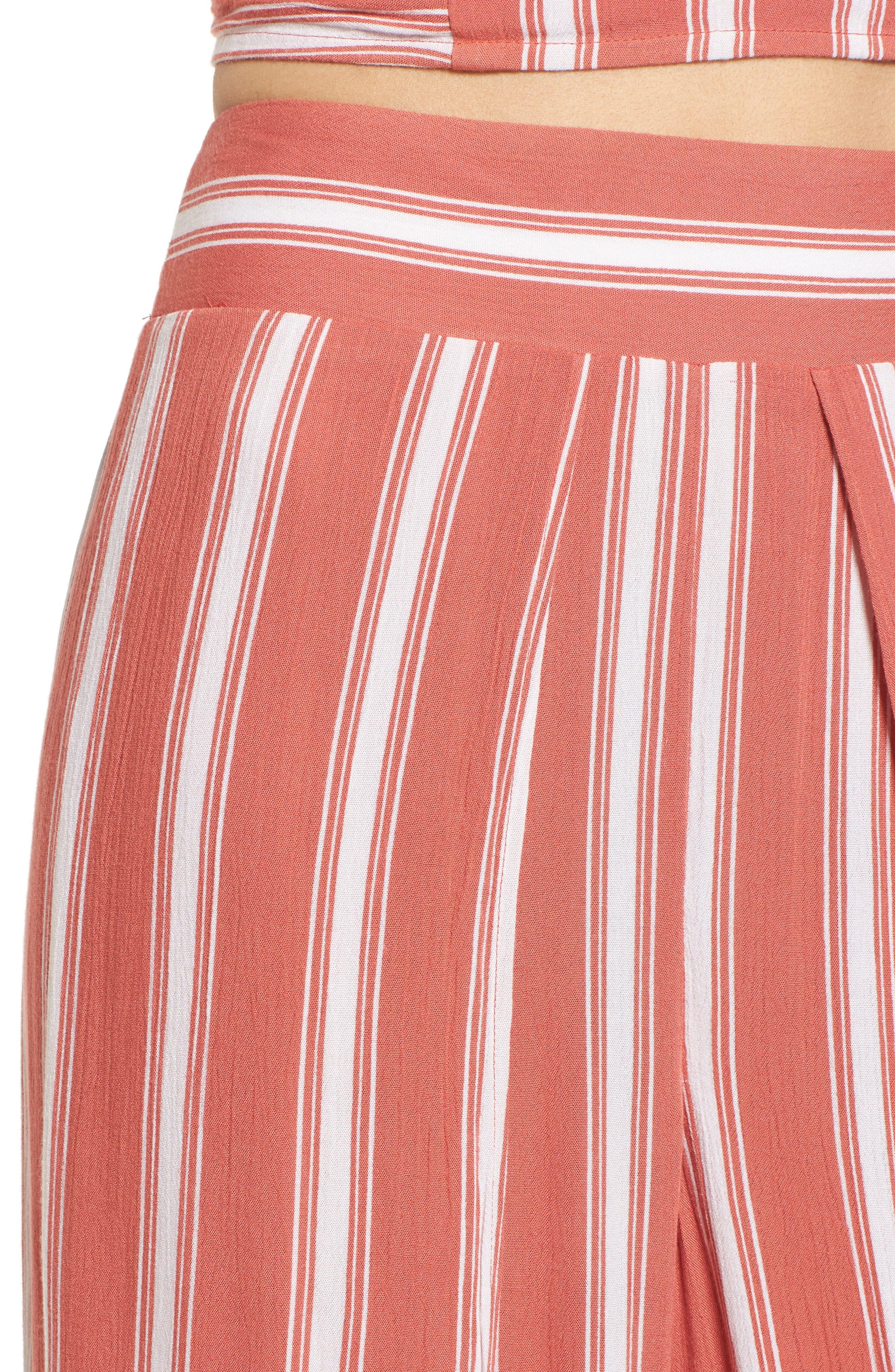 Stripe Split Leg Walkthrough Pants,                             Alternate thumbnail 4, color,                             950