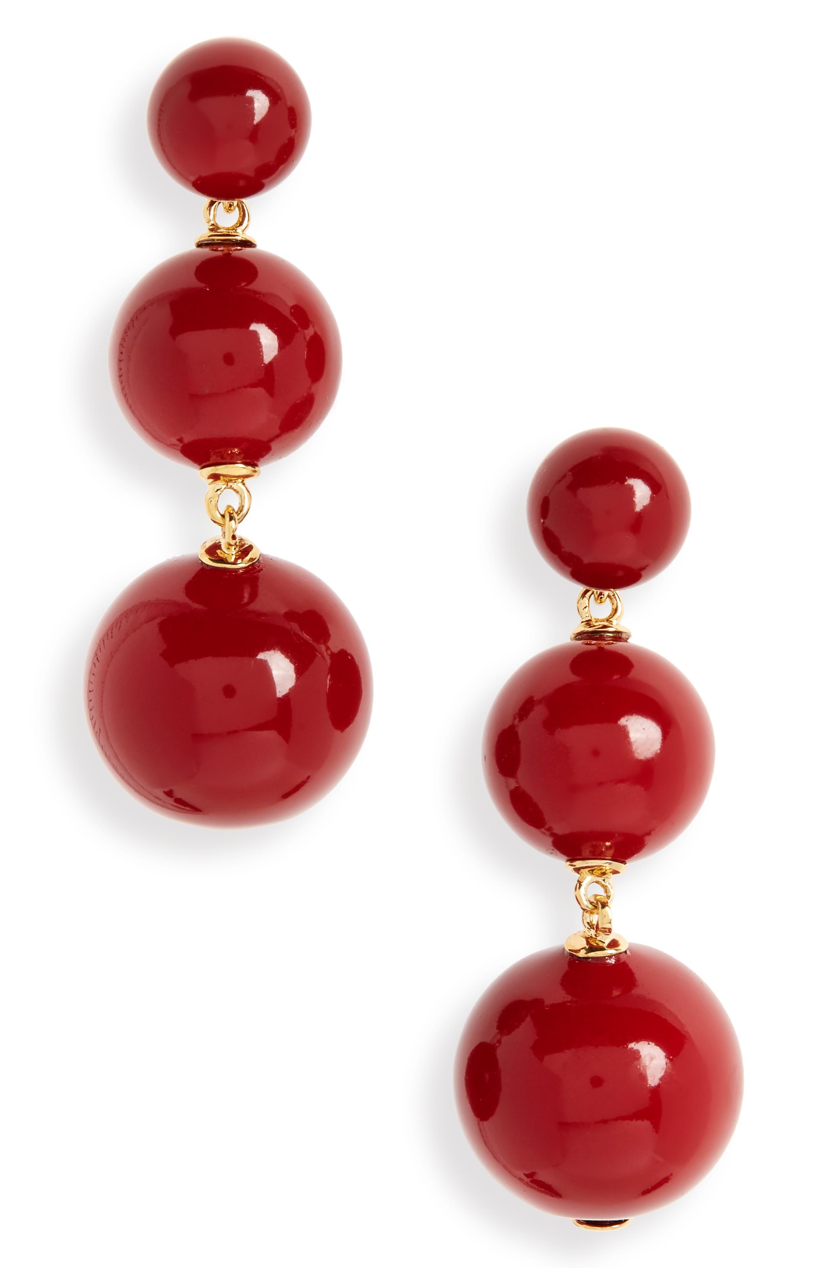 golden girl bauble drop earrings,                             Main thumbnail 2, color,