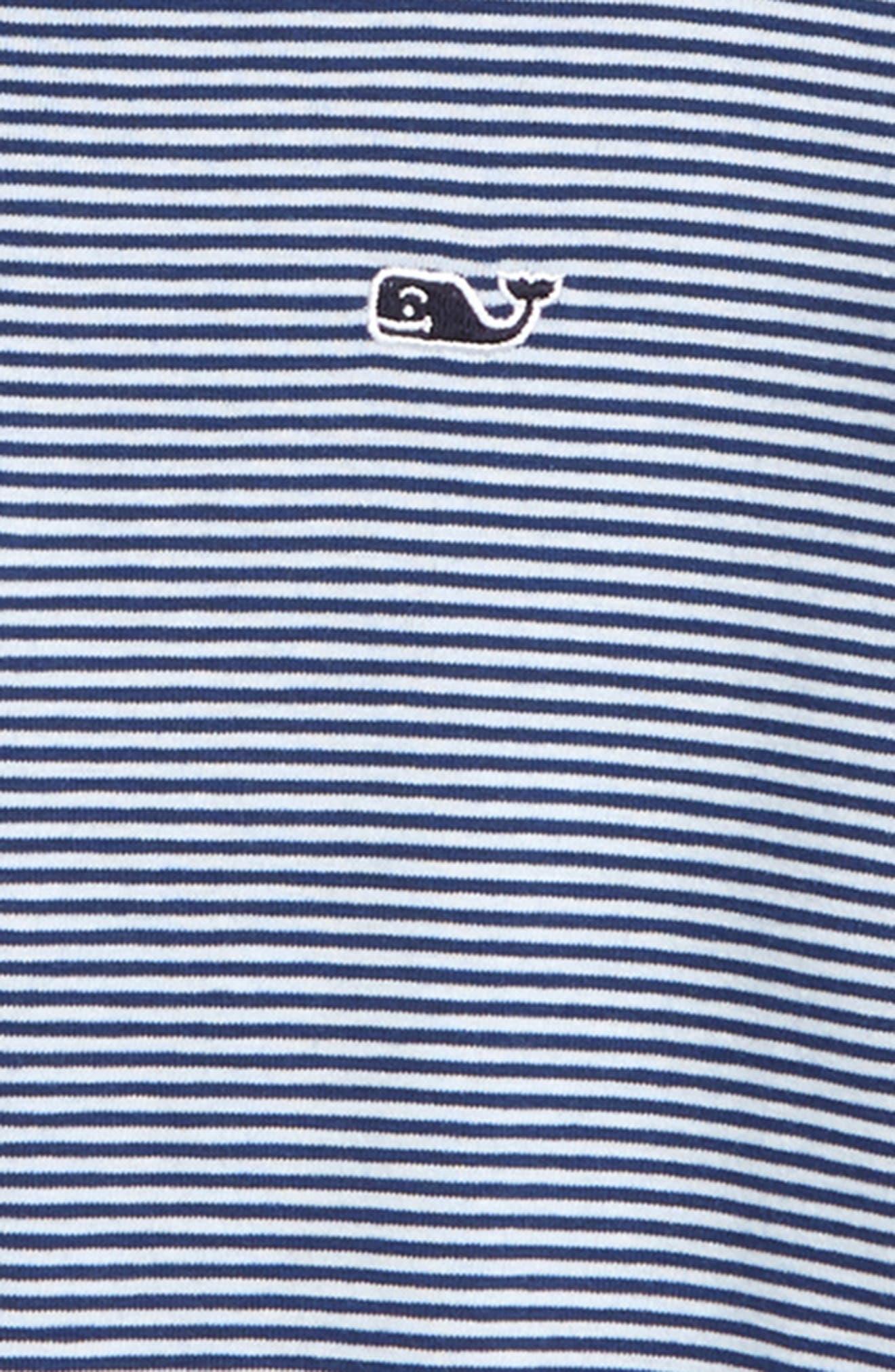 Stripe Edgartown Performance Polo,                             Alternate thumbnail 2, color,                             DEEP BAY