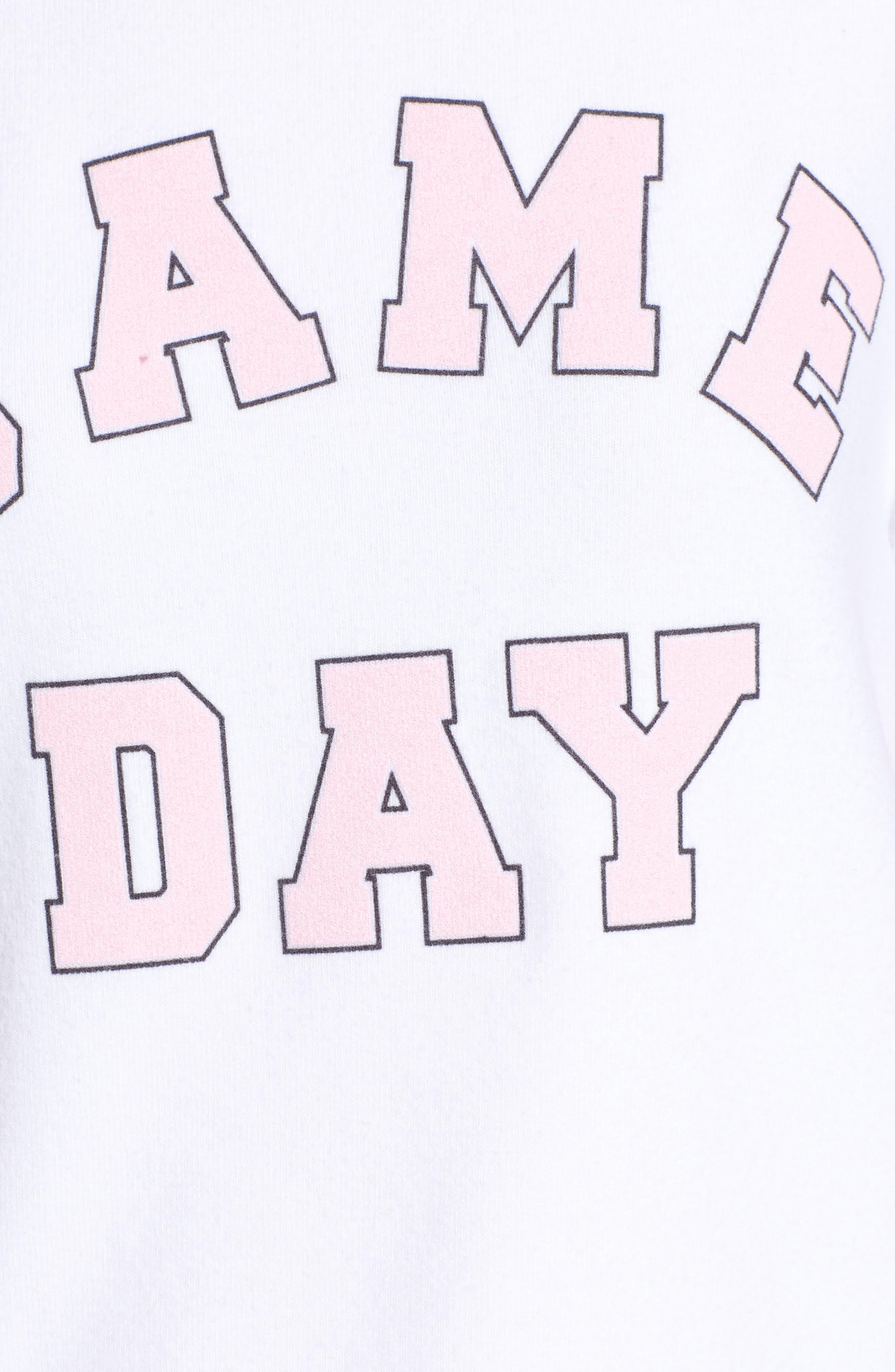 Game Day Baggy Beach Jumper Sweatshirt,                             Alternate thumbnail 5, color,                             CLEAN WHITE