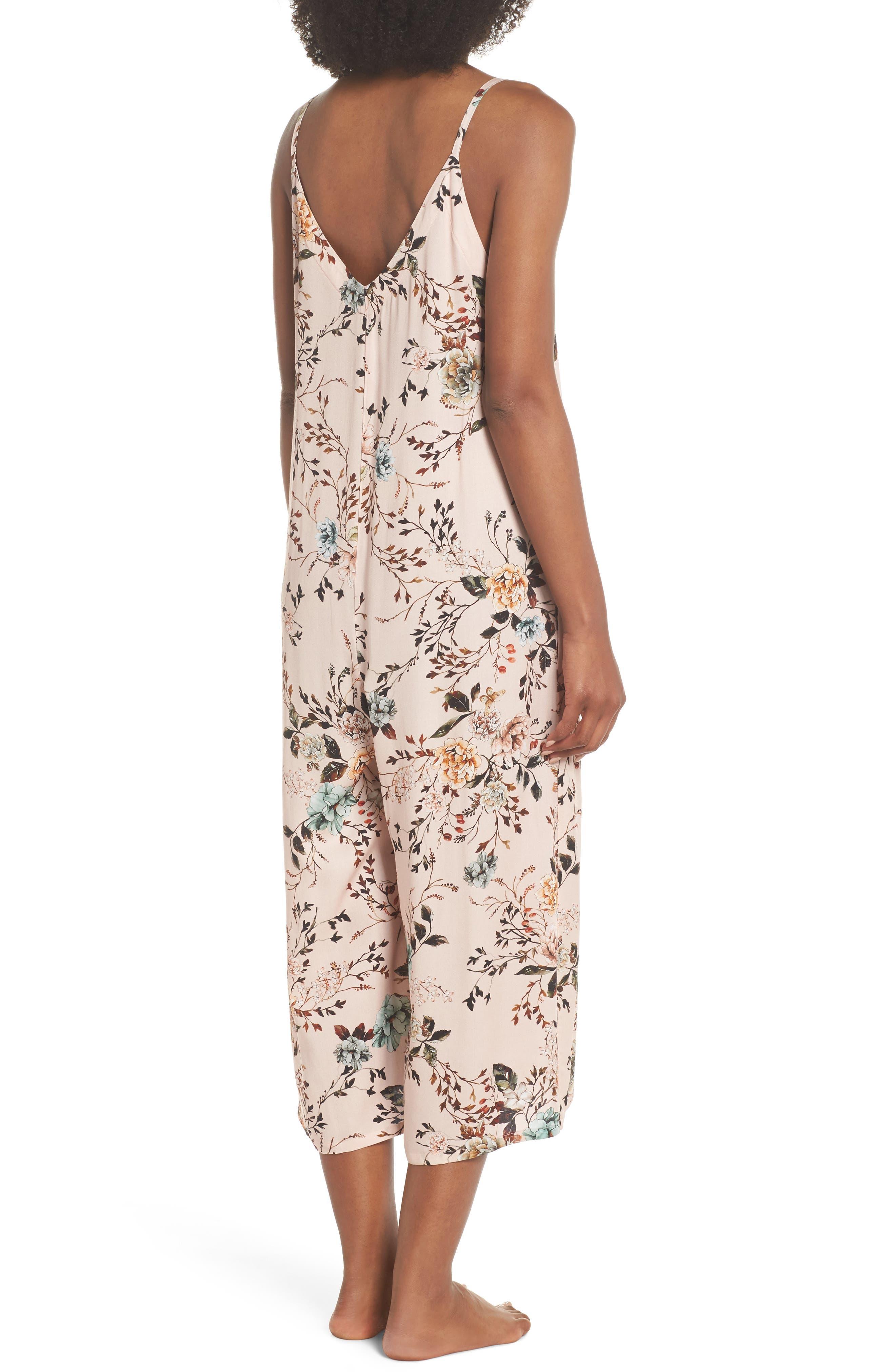 Floral Santi Crop Jumpsuit,                             Alternate thumbnail 2, color,                             950