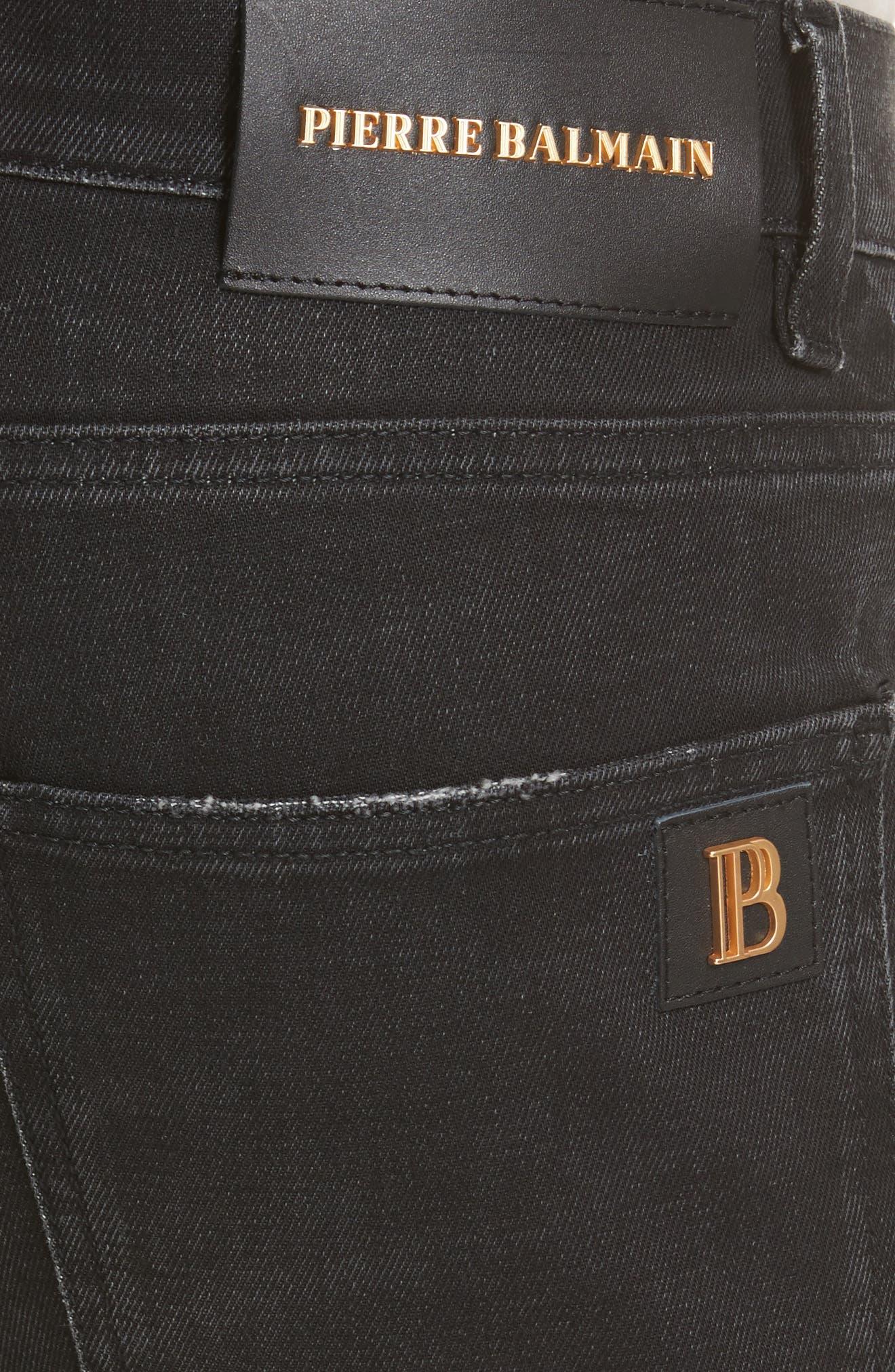 Biker Jeans,                             Alternate thumbnail 5, color,                             001