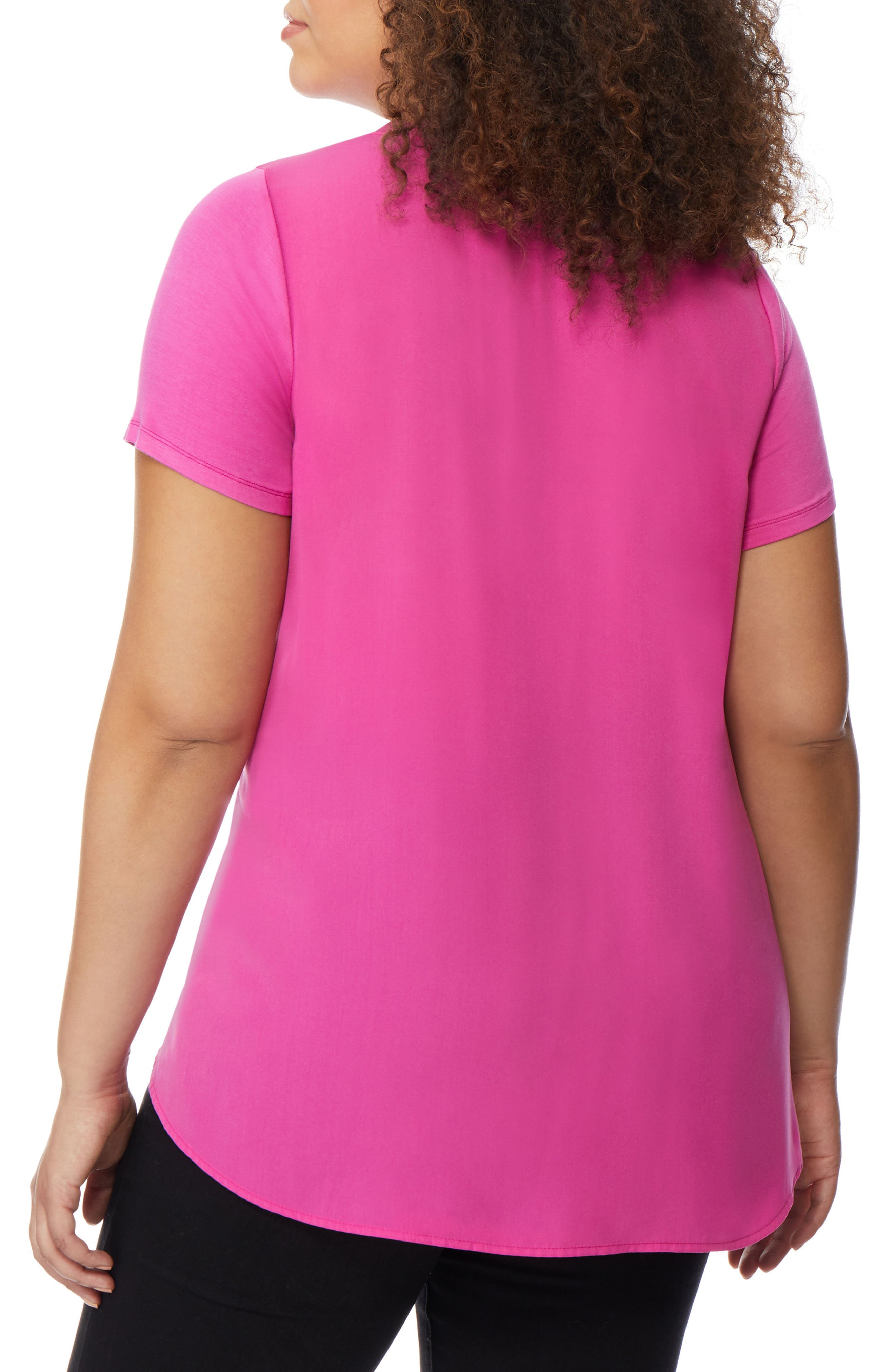 Knit to Woven Tee,                             Alternate thumbnail 2, color,                             651