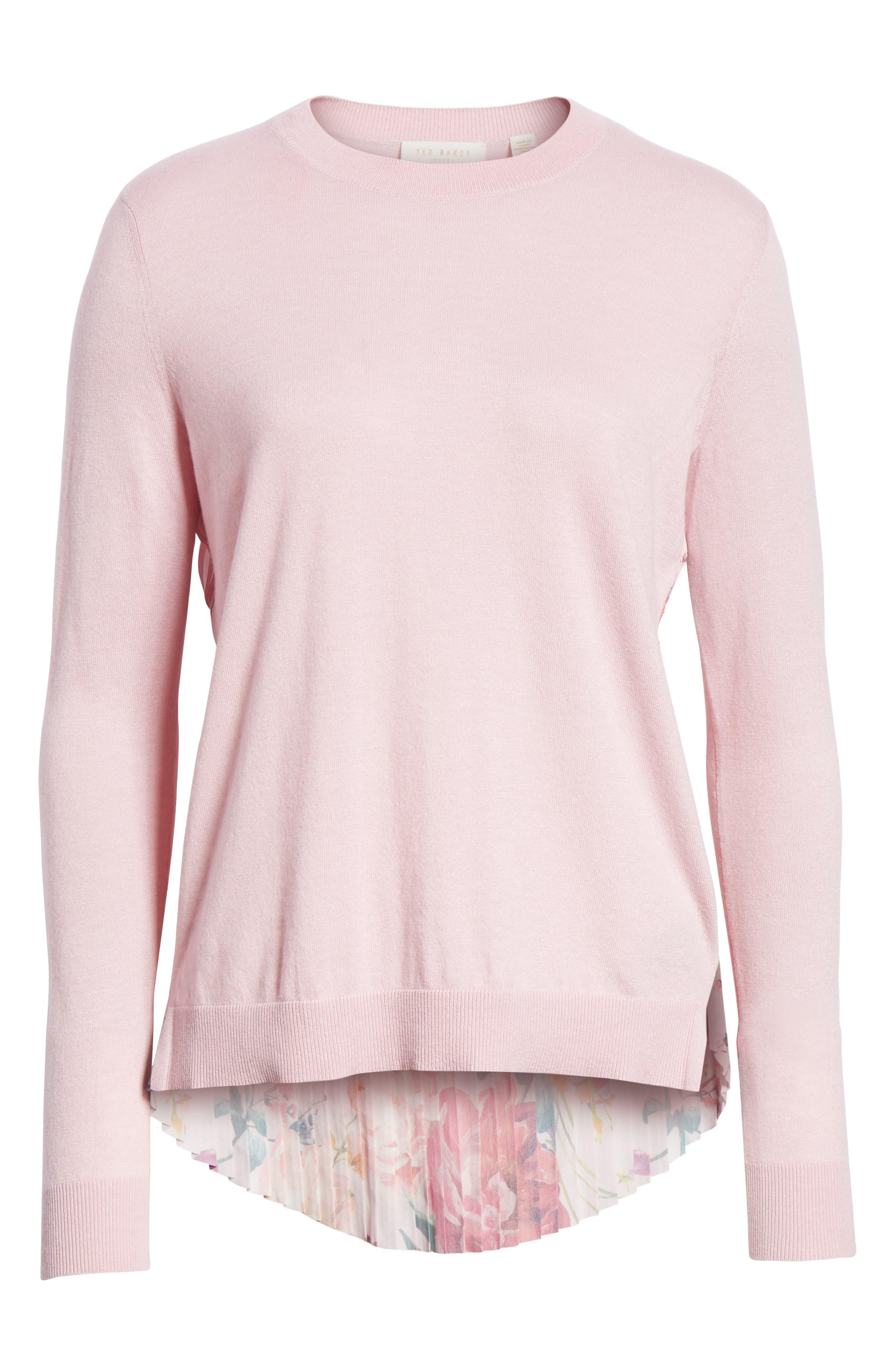 Kaleese Serenity Pleat Back Silk Cotton Sweater,                             Alternate thumbnail 6, color,                             531