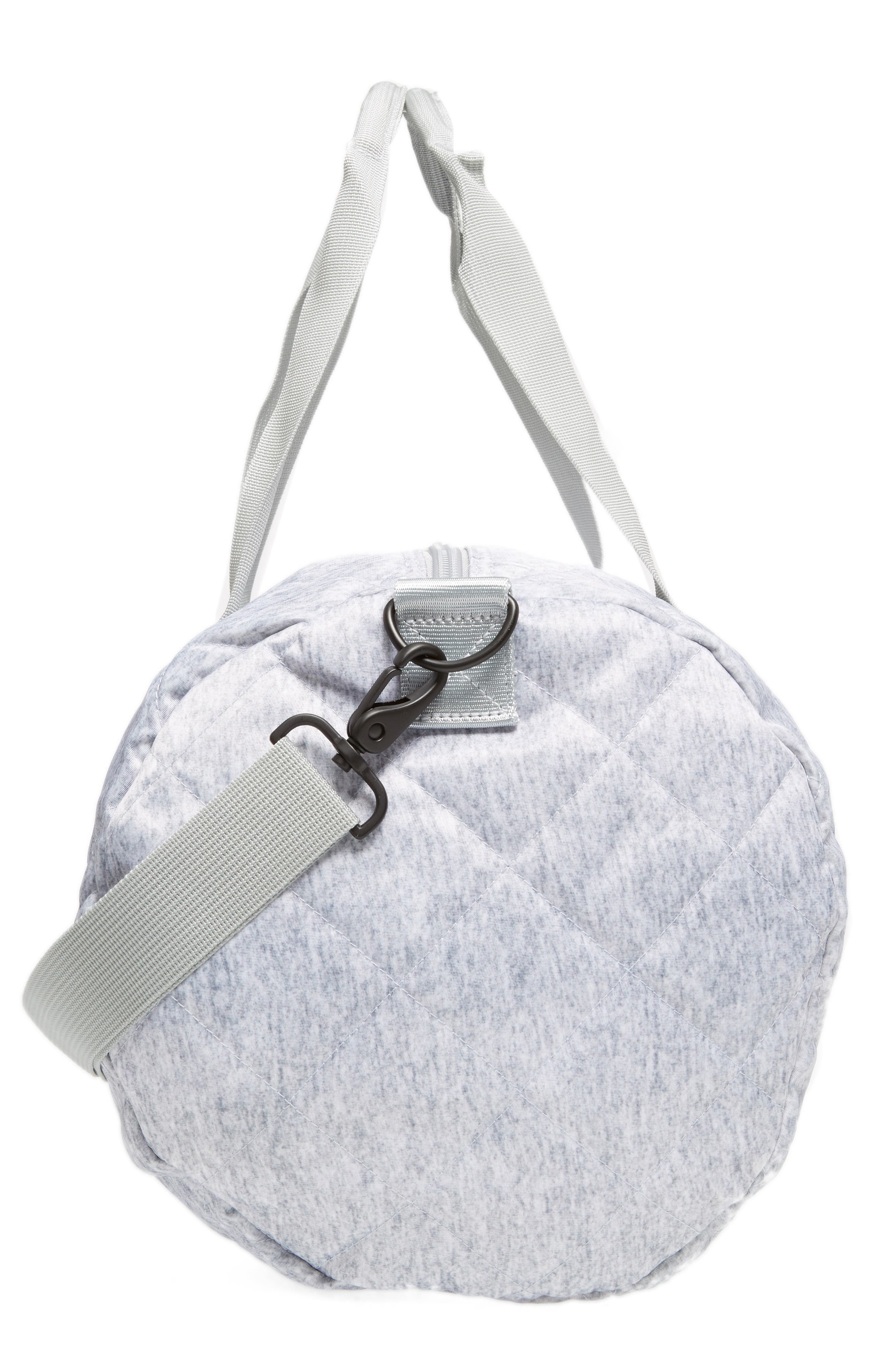 Roadie Small Duffel Bag,                             Alternate thumbnail 5, color,                             QUILTED GRAY NYLON