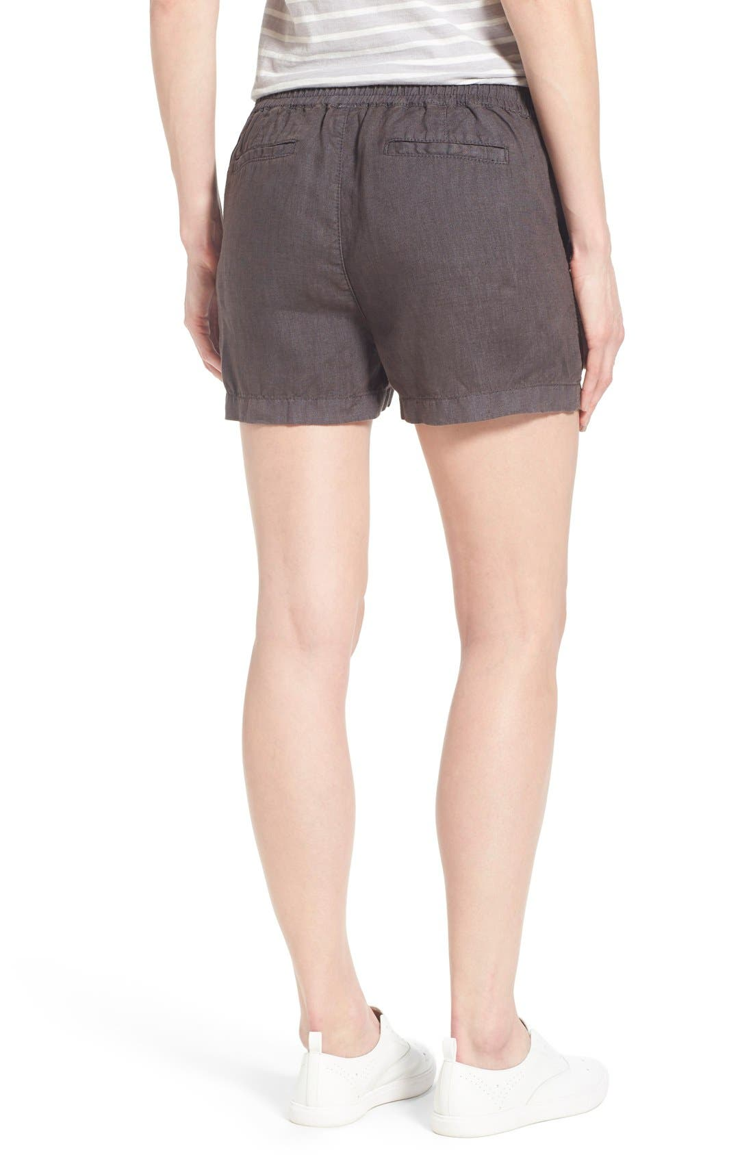 Drawstring Linen Shorts,                             Alternate thumbnail 4, color,                             030