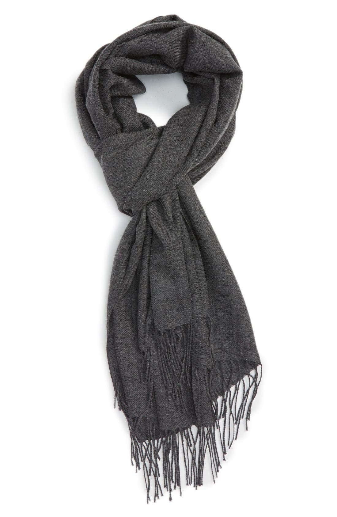 Tissue Weight Wool & Cashmere Scarf,                             Main thumbnail 15, color,