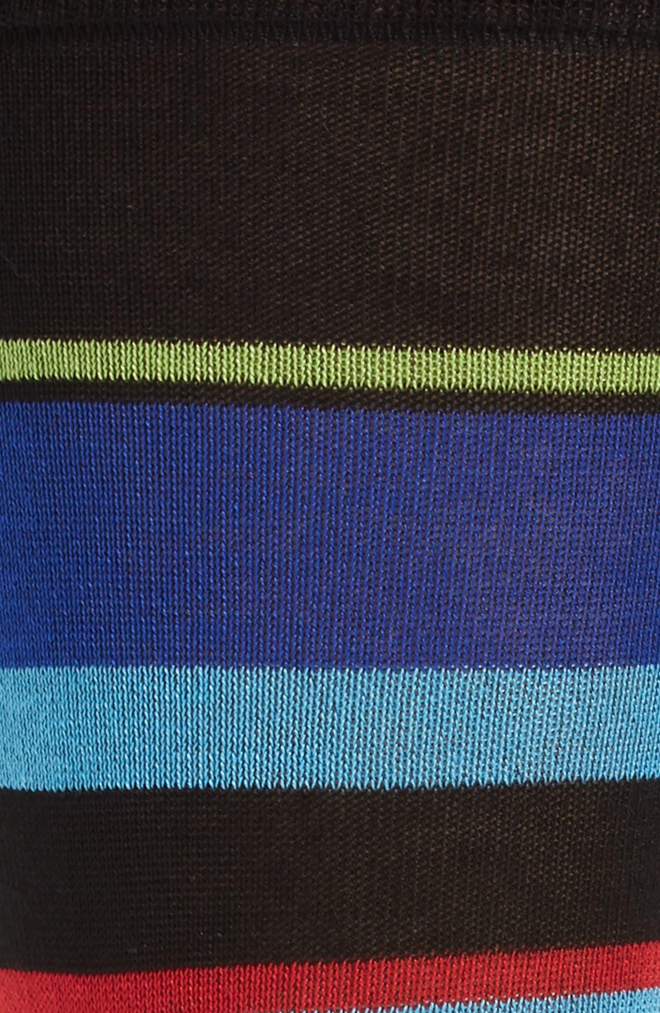 Stripe Mercerized Cotton Blend Socks,                             Alternate thumbnail 3, color,