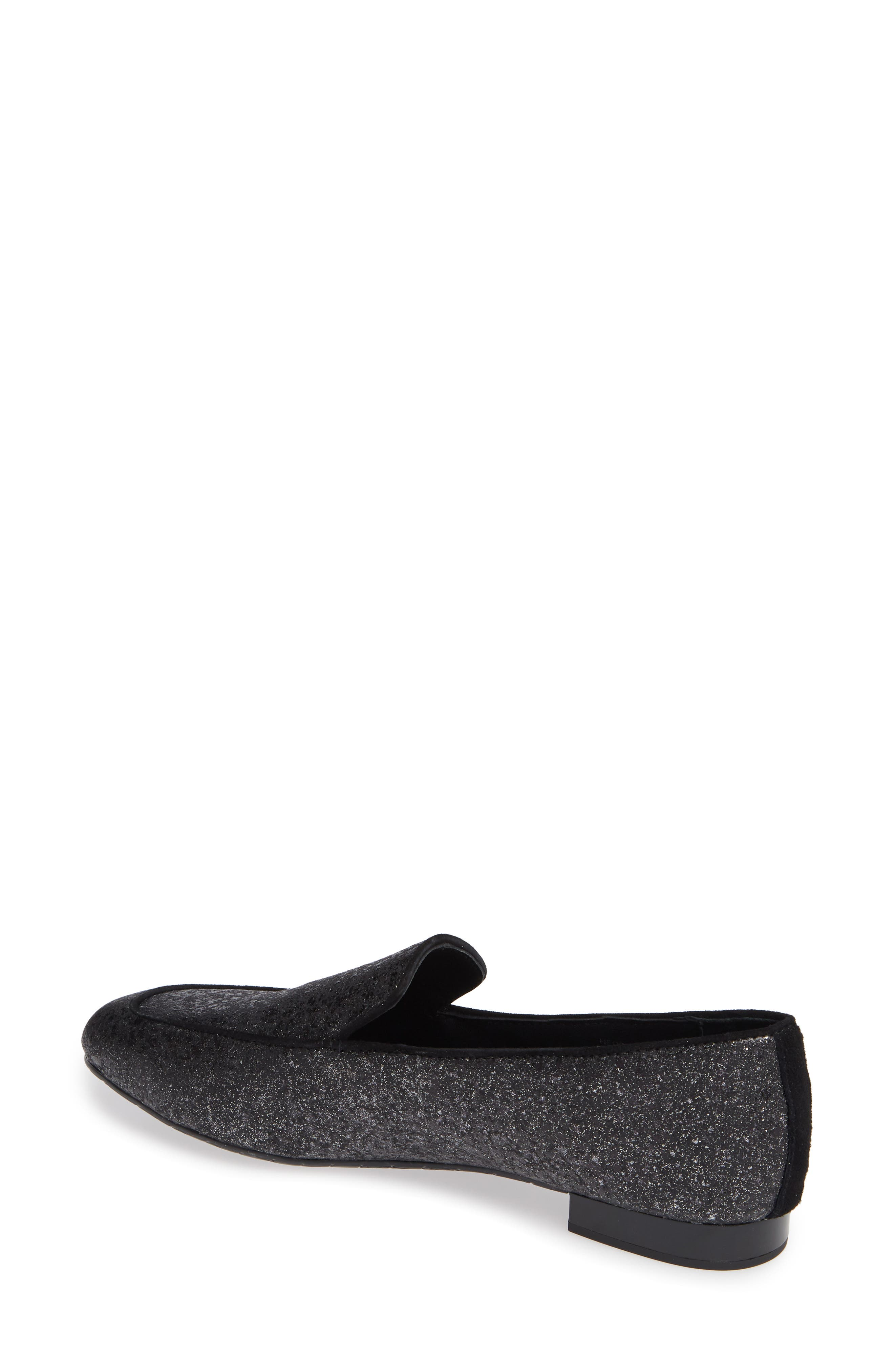 Heddy Loafer,                             Alternate thumbnail 2, color,                             SILVER GLITTER SUEDE